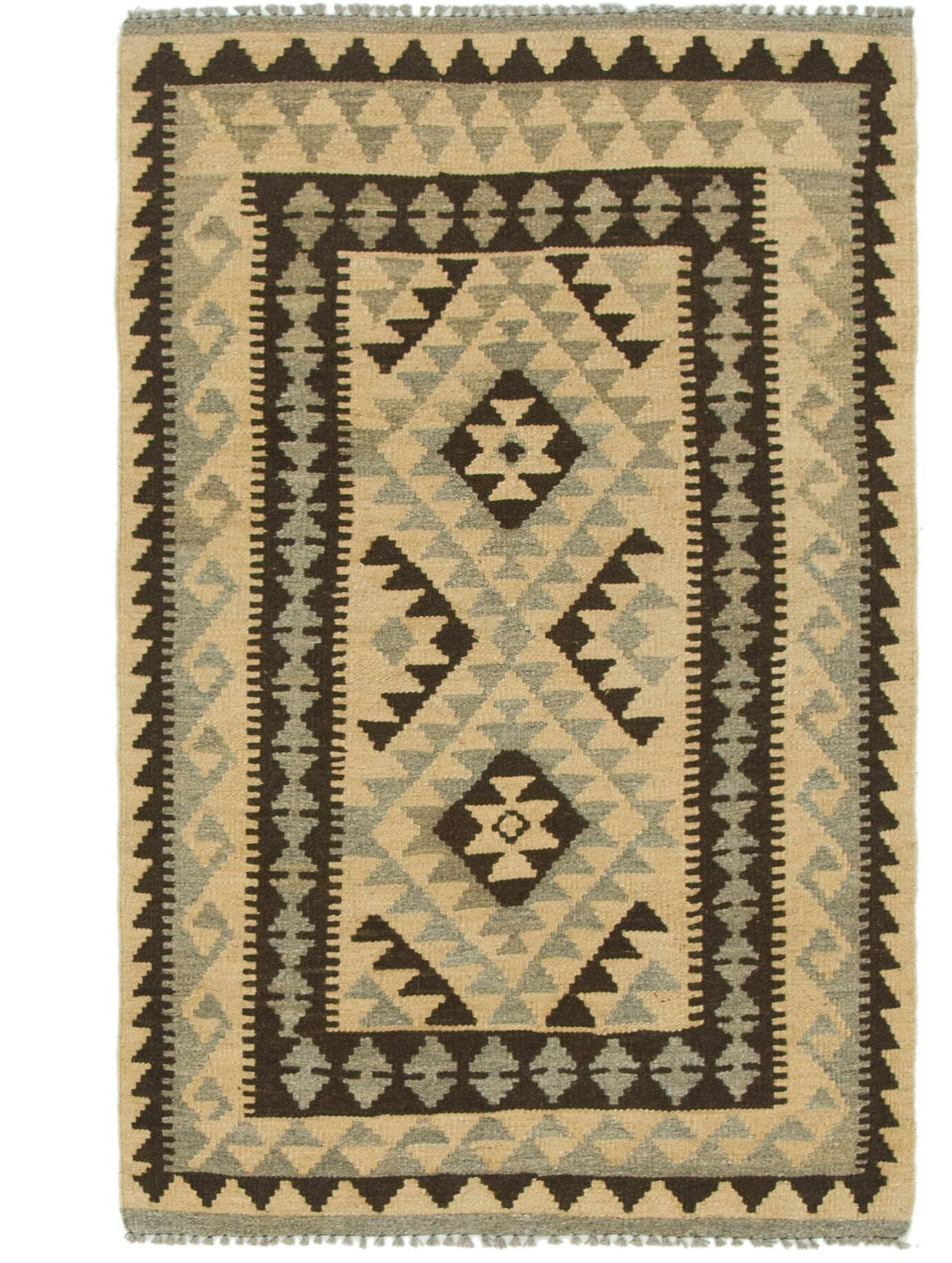 One-of-a-Kind Lorain Hand-Knotted Wool 2'10