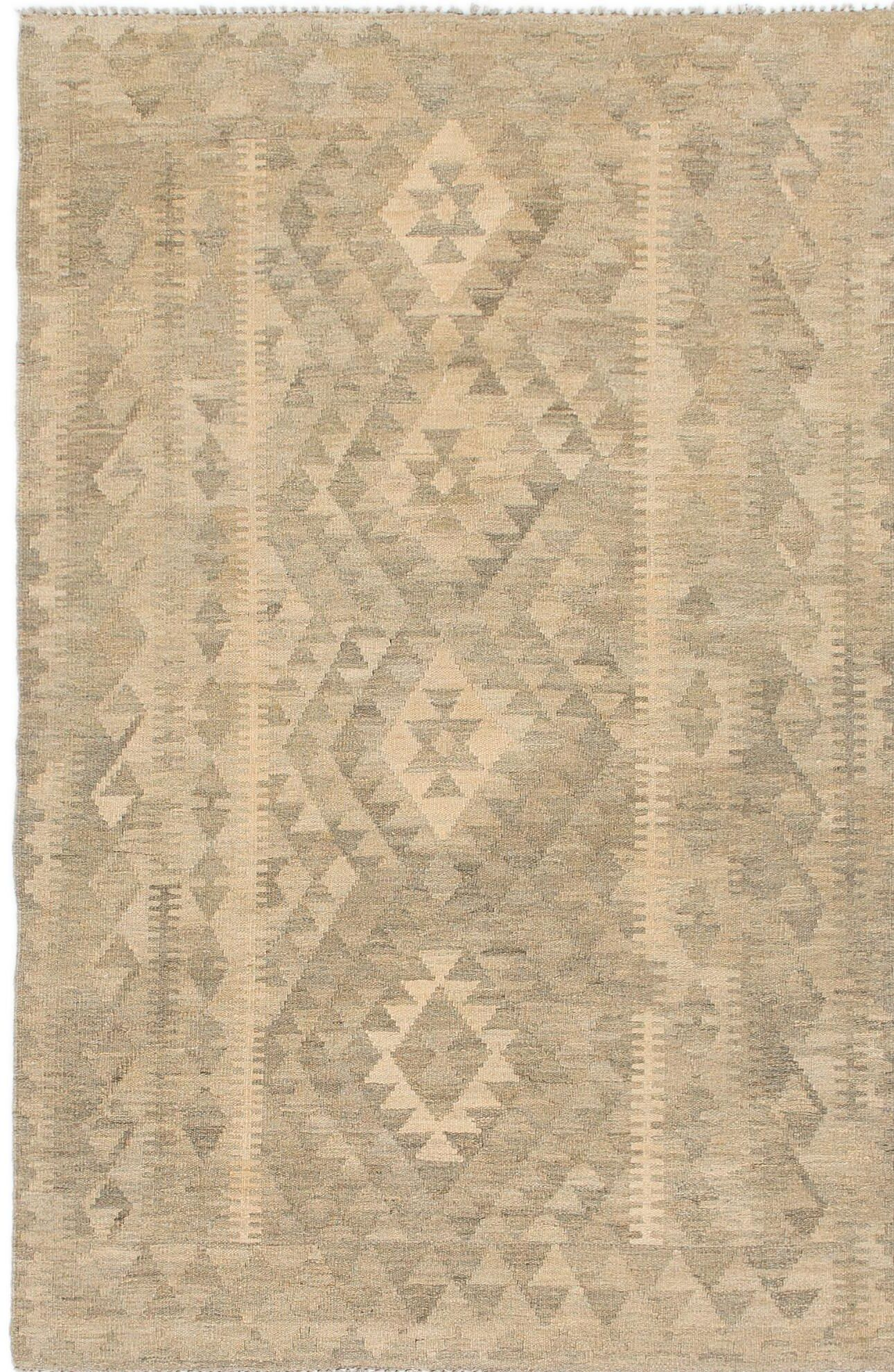 One-of-a-Kind Lorain Hand-Knotted Wool 3'10
