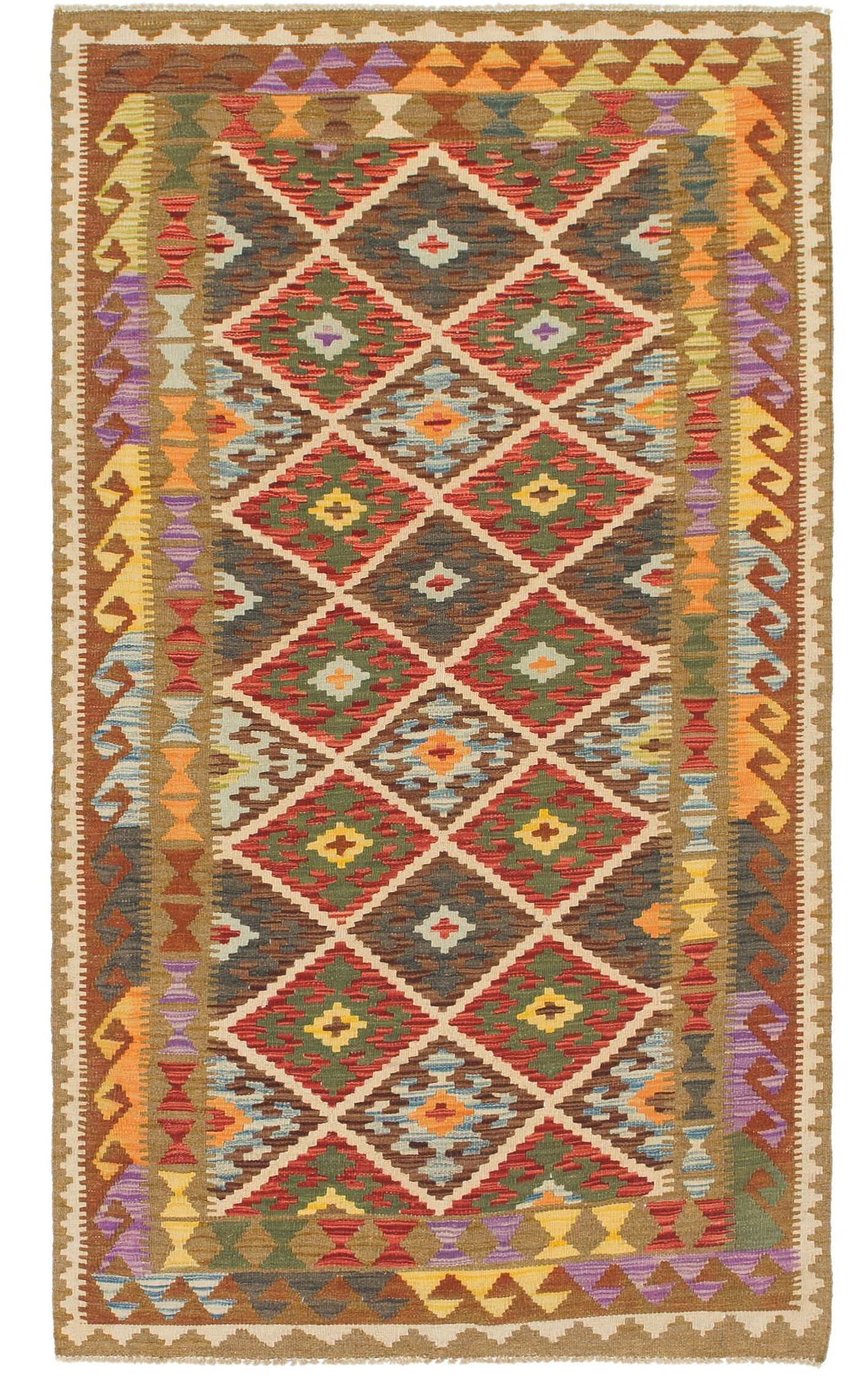 One-of-a-Kind Lorain Hand-Knotted Wool 3'7