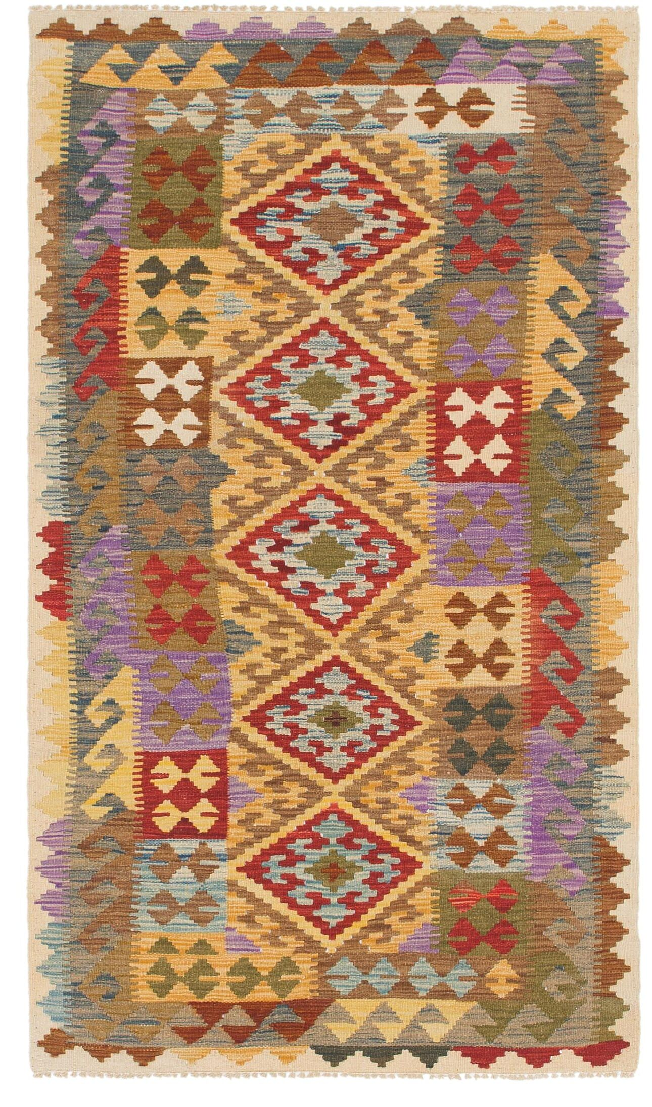 One-of-a-Kind Lorain Hand-Knotted Wool 3'4