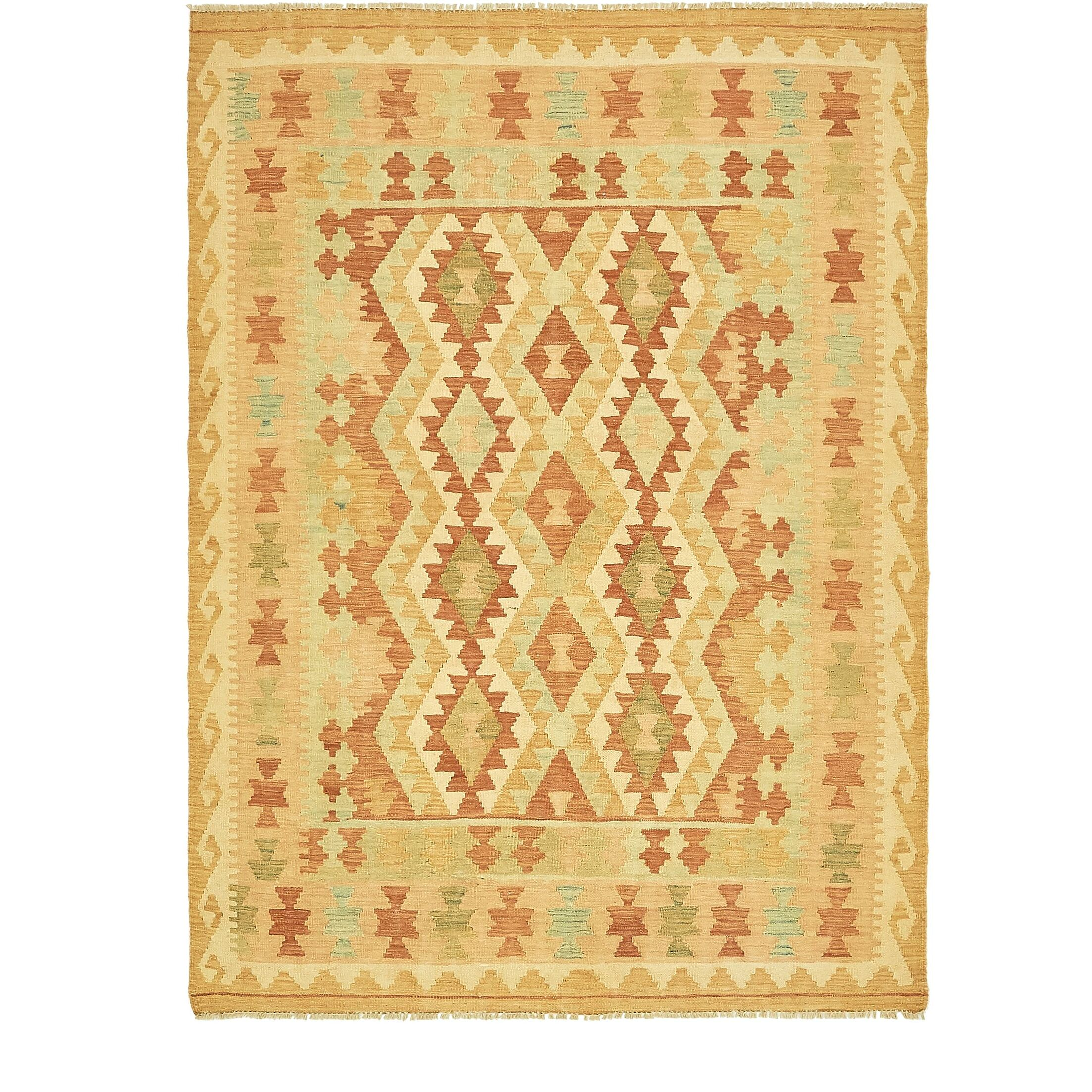 One-of-a-Kind Elland Hand-Knotted Wool Tan/Brown Area Rug
