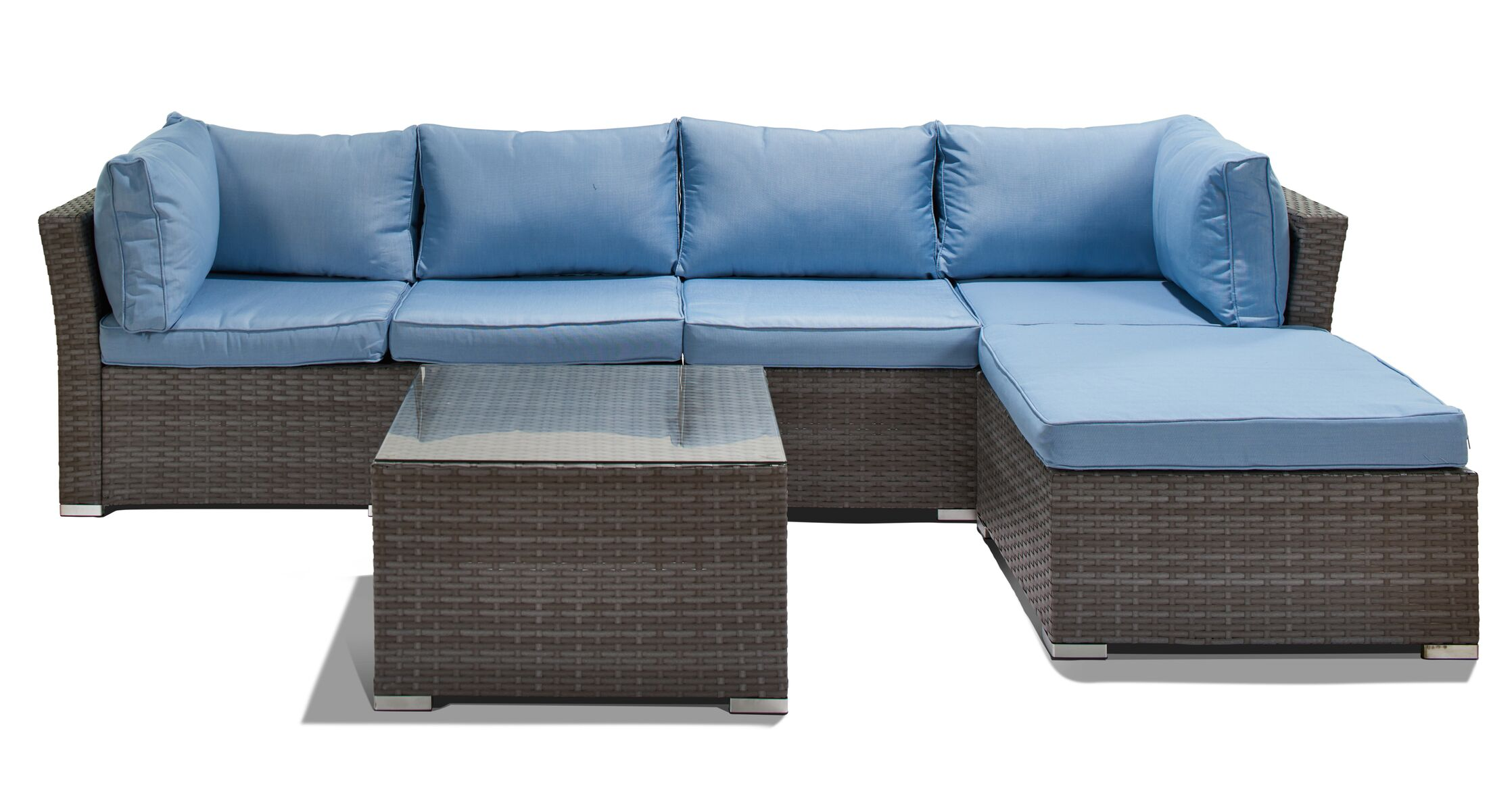Galdamez 5 Piece Rattan Sofa Seating Group