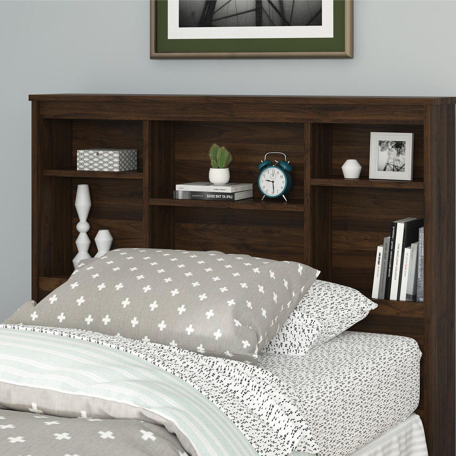 Warriner Twin Bookcase Headboard Color: Walnut