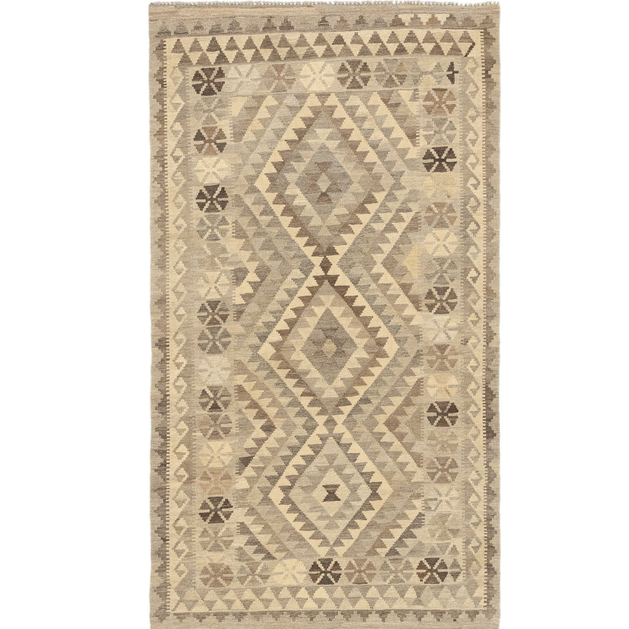 One-of-a-Kind Elland Hand-Knotted Wool Light Gray/Gray Area Rug