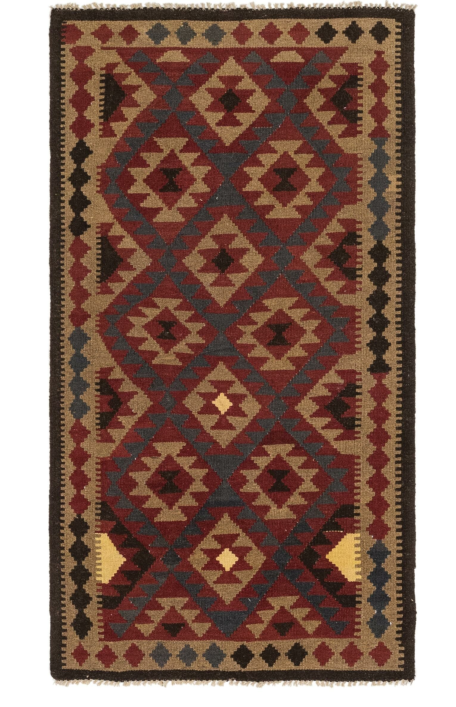 One-of-a-Kind Lorain Hand-Knotted Wool 3'5