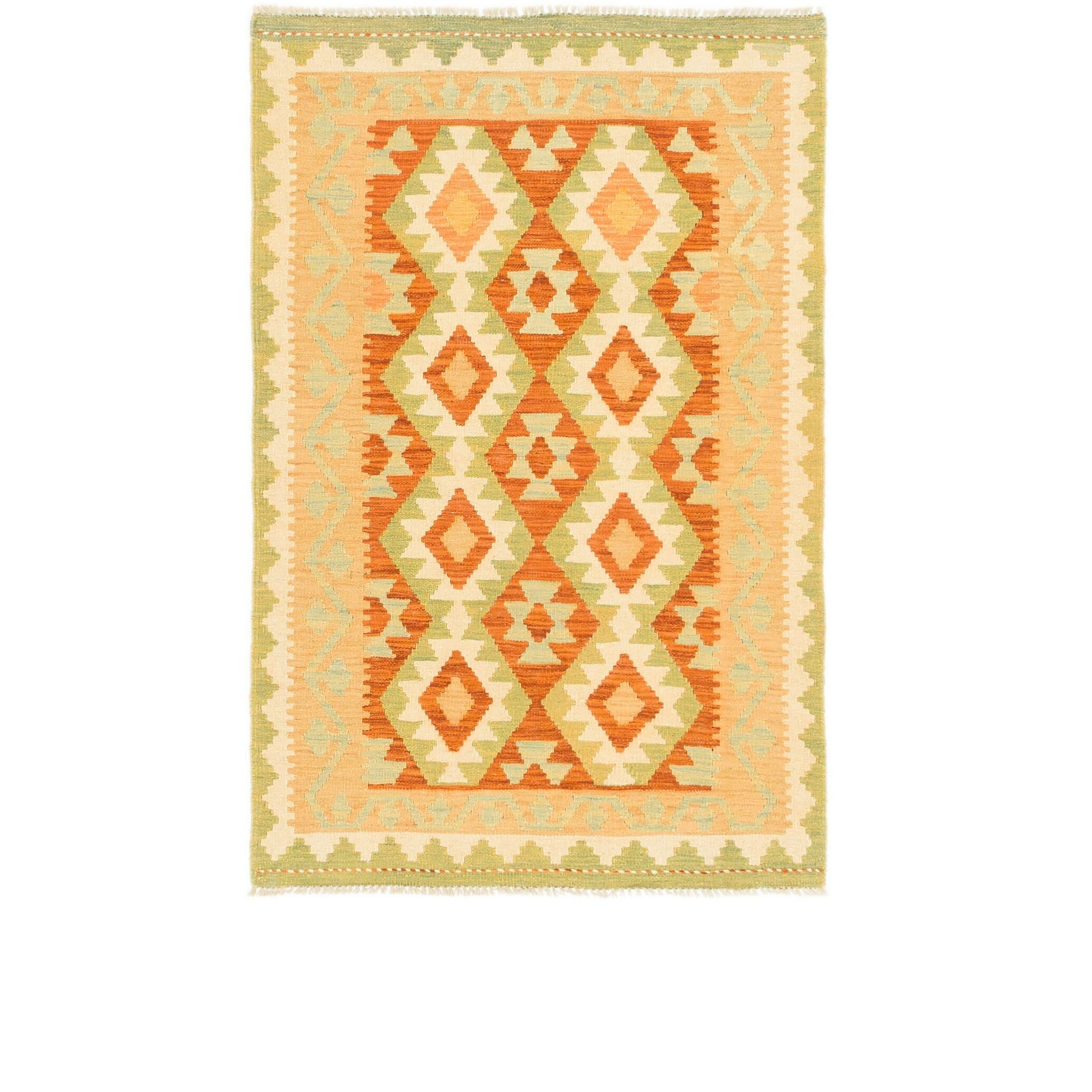 One-of-a-Kind Elland Hand-Knotted Wool Rust Red/Orange Area Rug