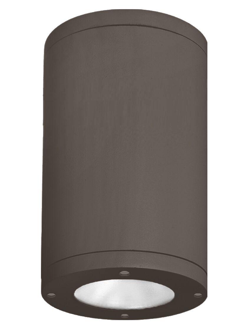 Janice 1-Light LED Flush Mount Fixture Finish: Bronze, Lens Degree: Narrow