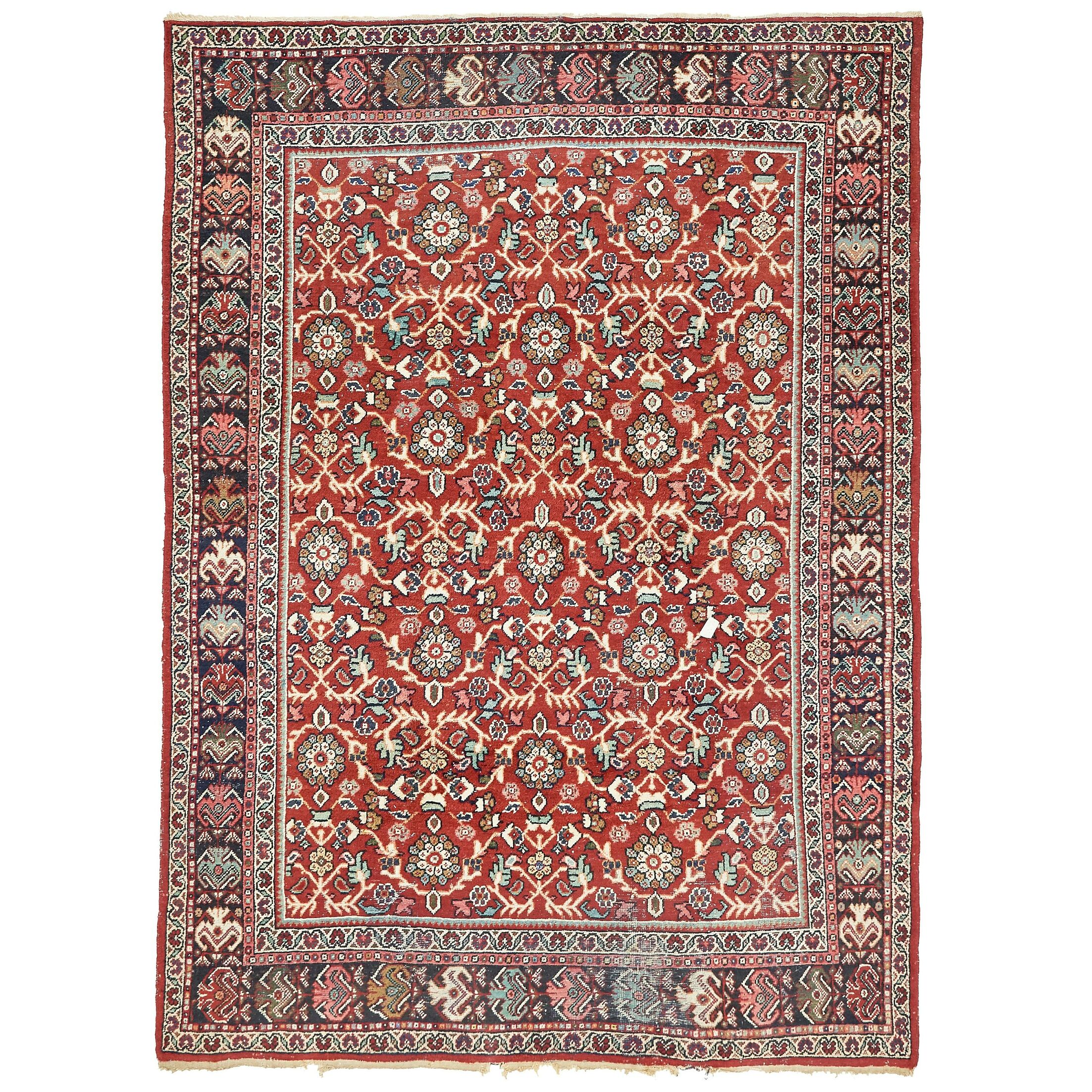 One-of-a-Kind Egremt Hand-Knotted Wool Red Area Rug