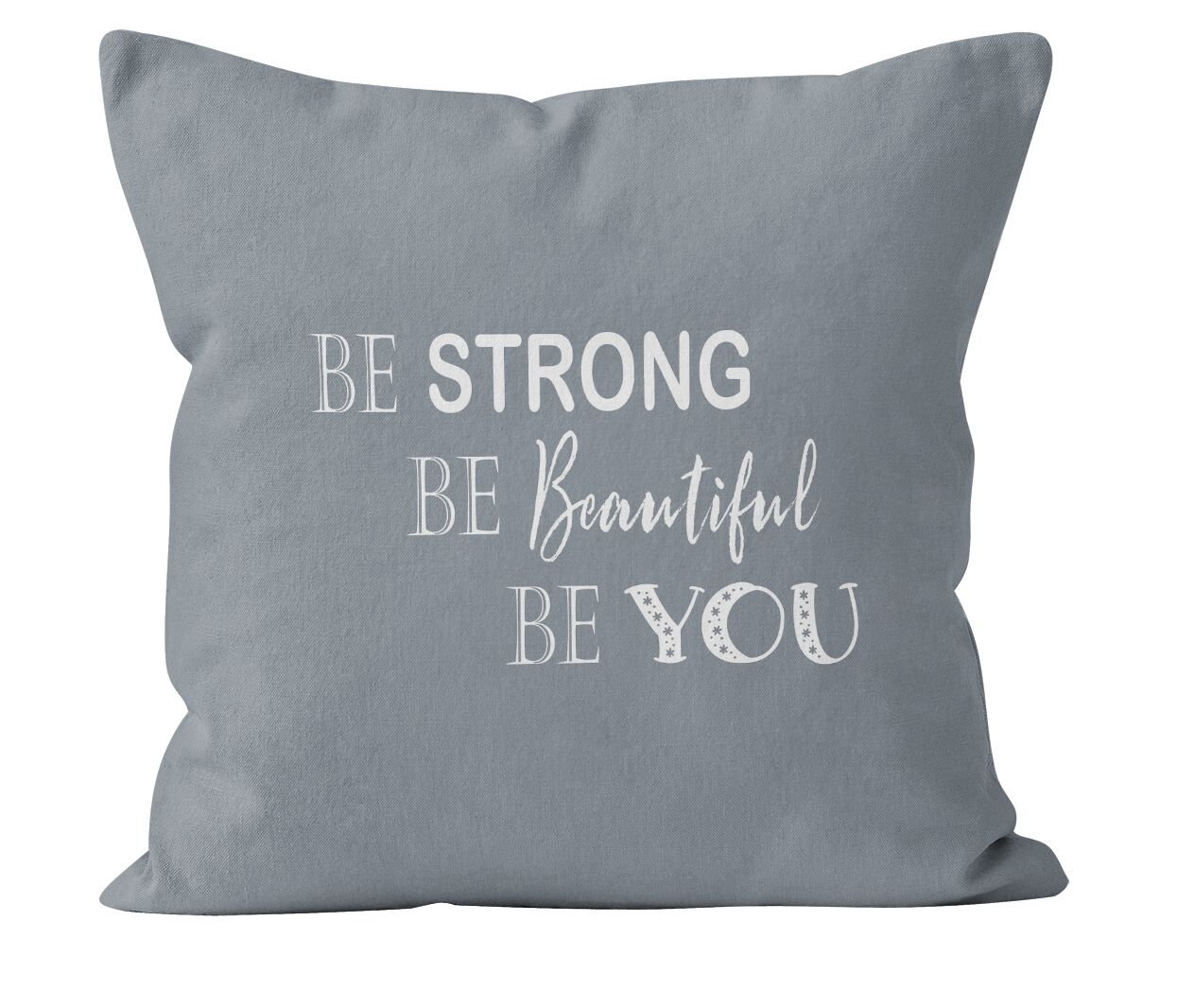 Miner Be Strong Be Beautiful Be You Throw Pillow Size: 16 H