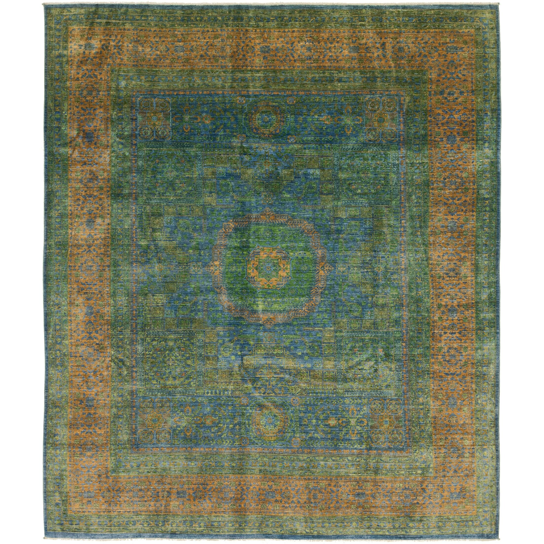 One-of-a-Kind Lulie Hand-Knotted Wool Blue Area Rug