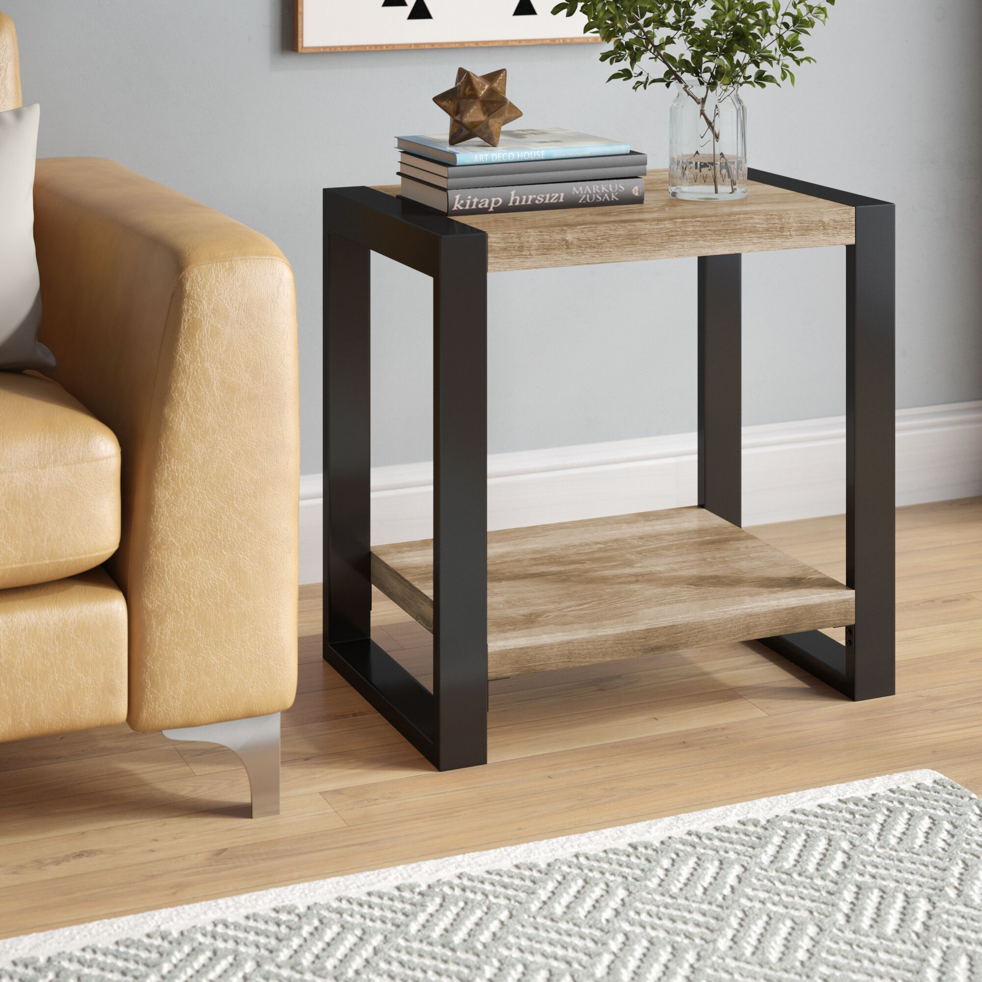 Theodulus End Table Color: Driftwood