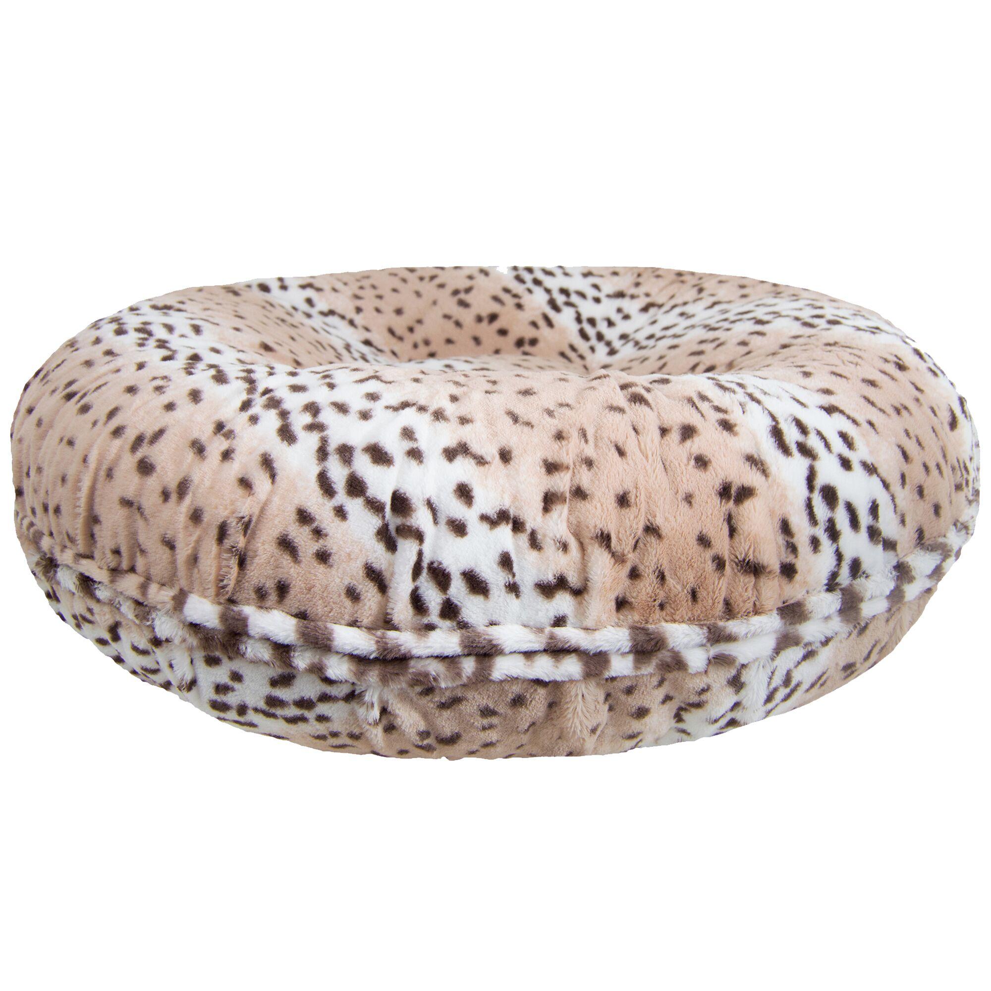 Koret Leopard Bagel Bed Pillow/Classic Size: Medium (36
