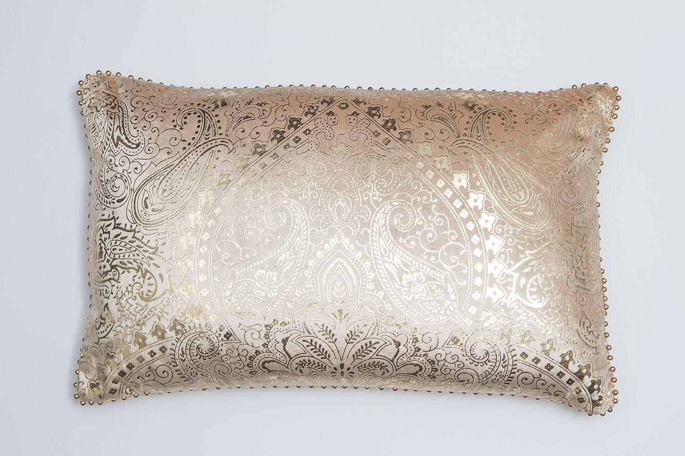 Damask Velvet Lumbar Pillow