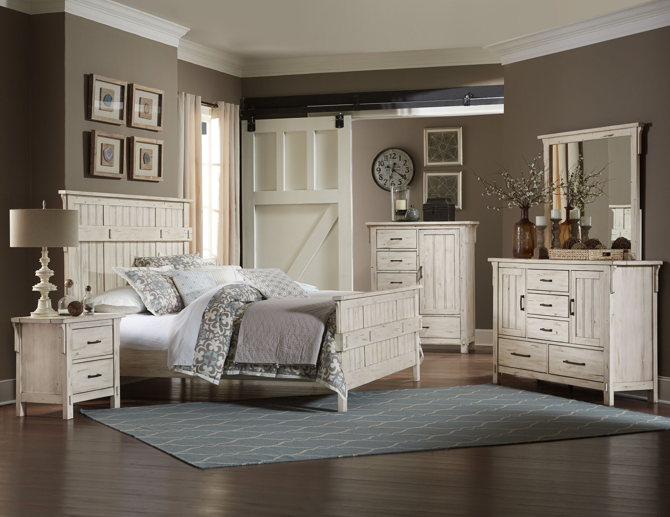 Baird 2 Drawer Nightstand Color: Antique White
