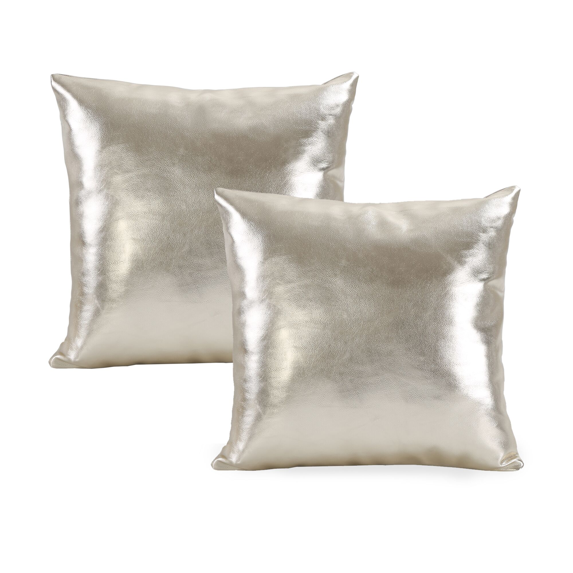Metallic Throw Pillow Color: Gold