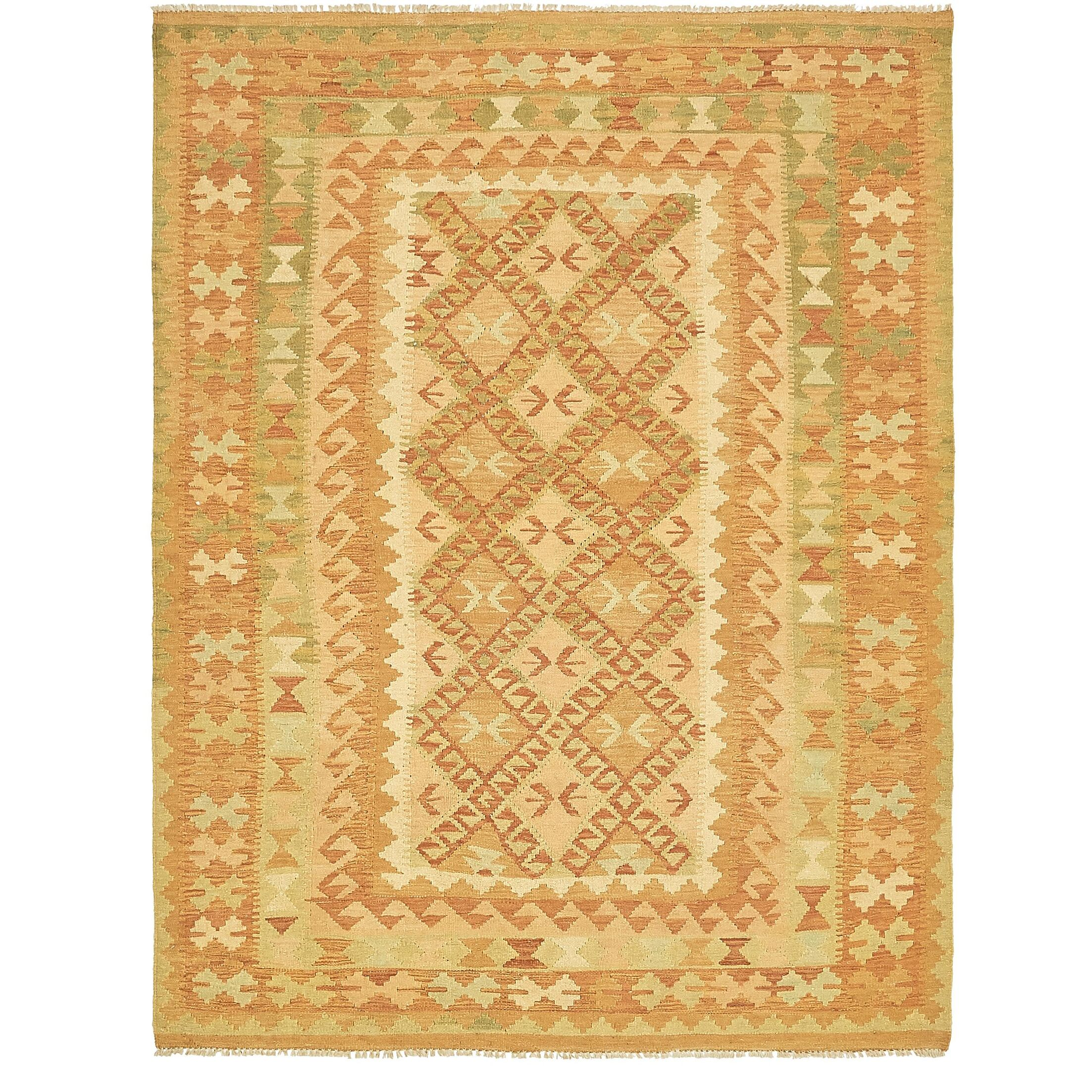 One-of-a-Kind Elland Hand-Knotted Wool Orange/Brown Area Rug