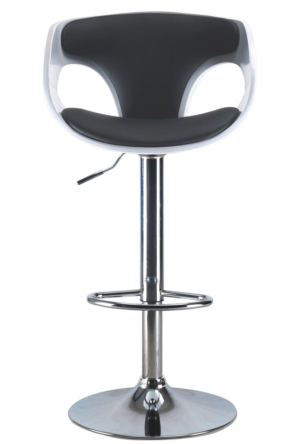 Brisa Mid Century Modern Adjustable Height Swivel Bar Stool Color: Chrome/Gray