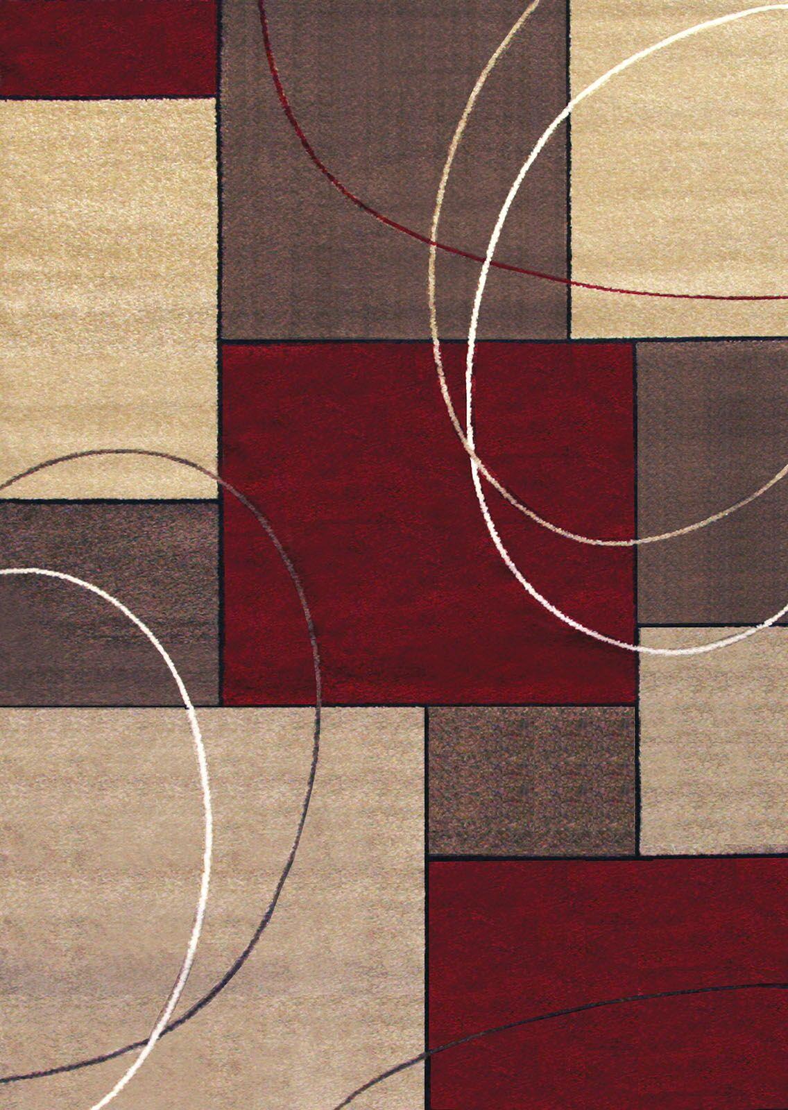 Llanes Geometrical Beige/Red Indoor/Outdoor Area Rug