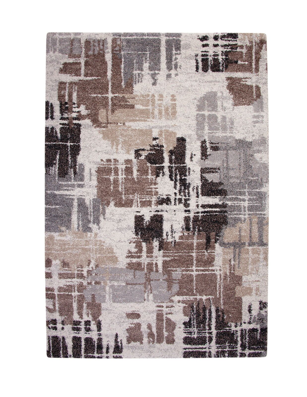 Dodge Thick and Plush Brown/Black Indoor/Outdoor Area Rug