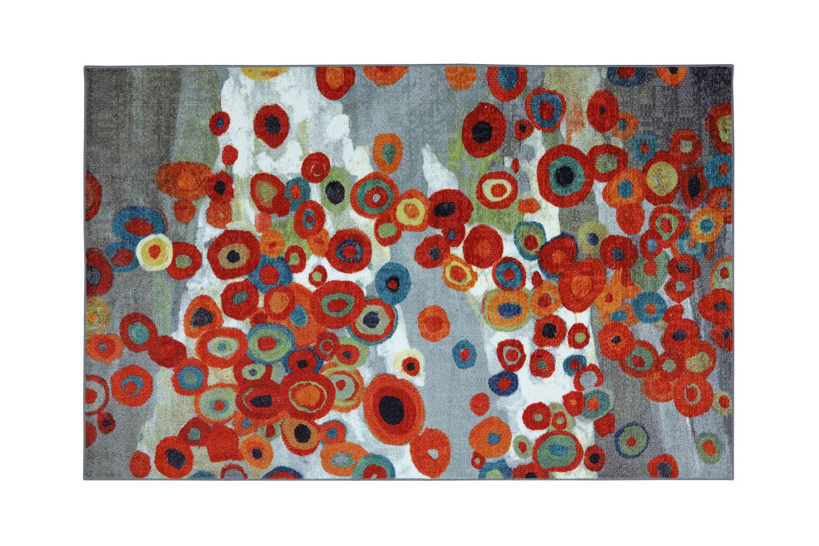 Rozella Red/Gray Indoor/Outdoor Area Rug Rug Size: Rectangle 5' x 8'