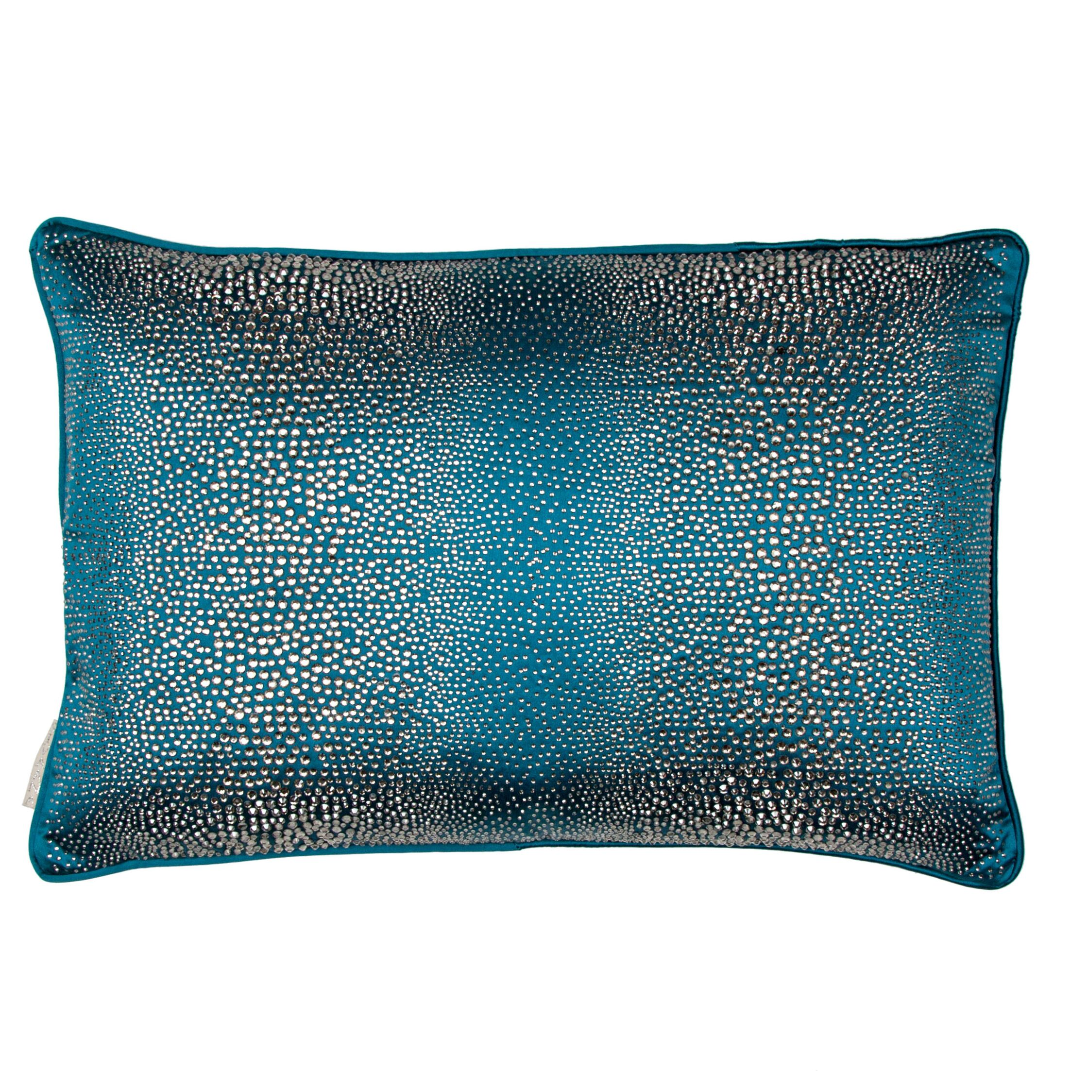 All Over Crystal Lumbar Pillow