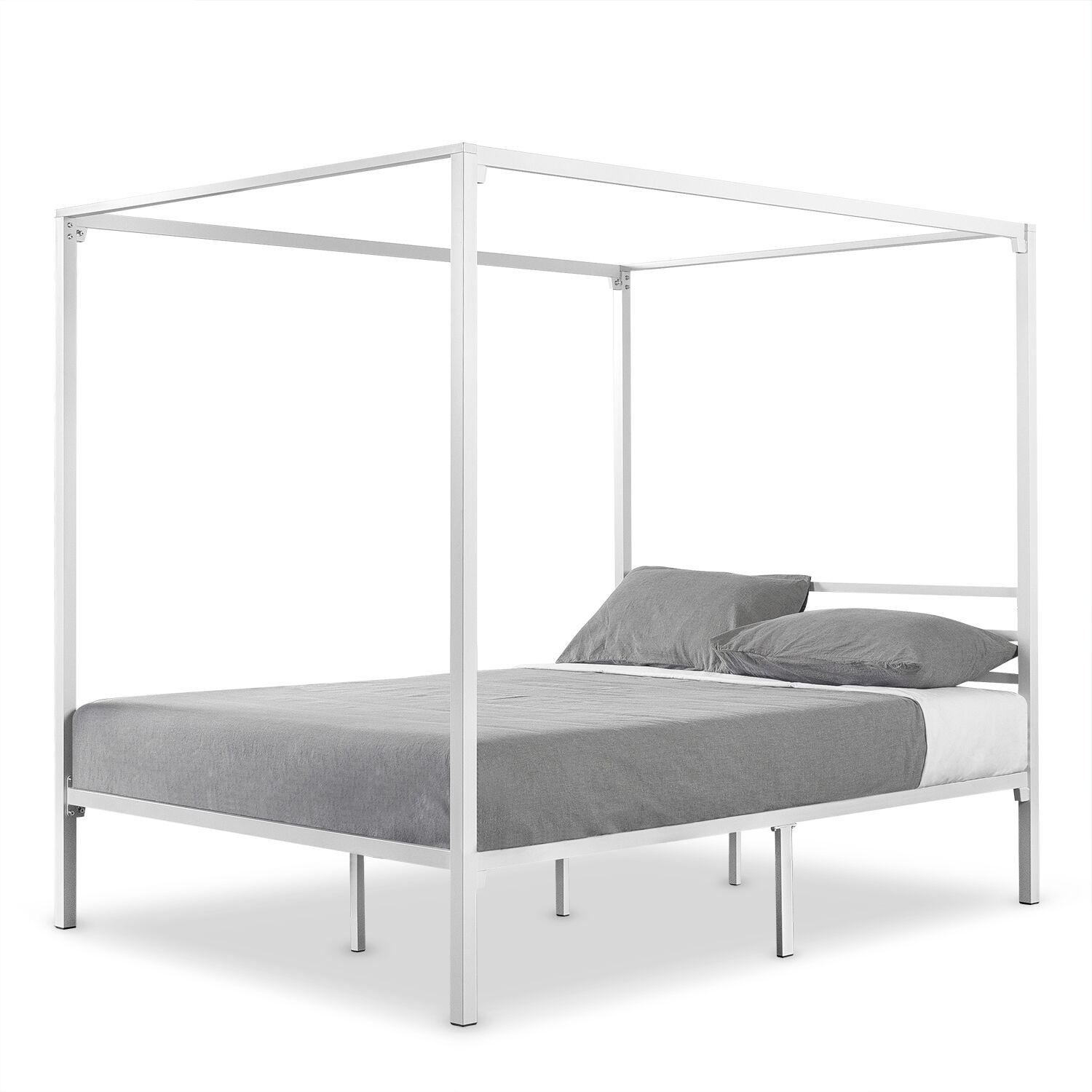 Hubbert Metal Framed Canopy Bed Frame Size: Full