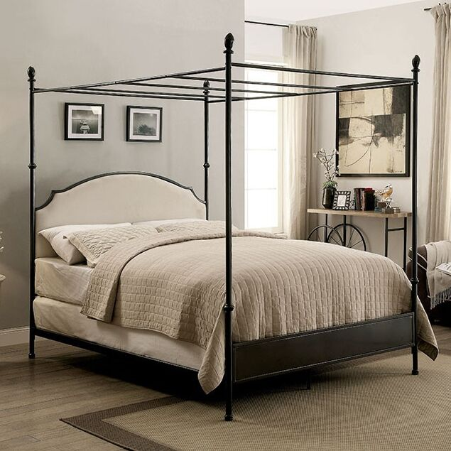 Zed Upholstered Canopy Bed Size: King