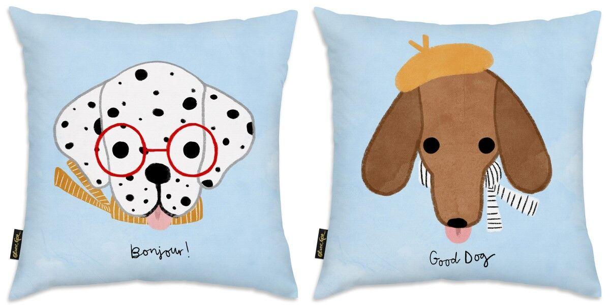 Stamper 2 Piece Canine Throw Pillow Set