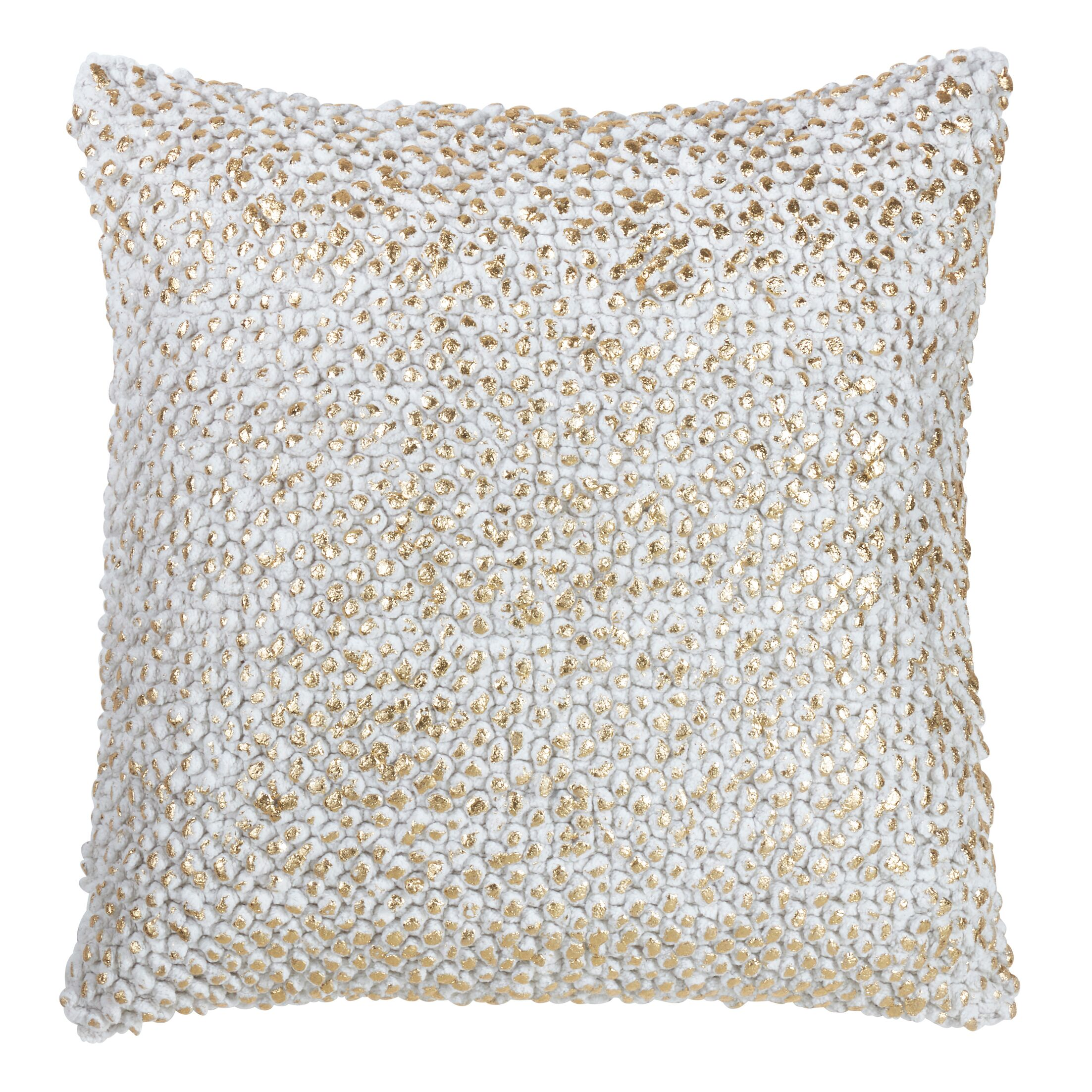 Azu Down Filled Cotton Throw Pillow Color: Gold