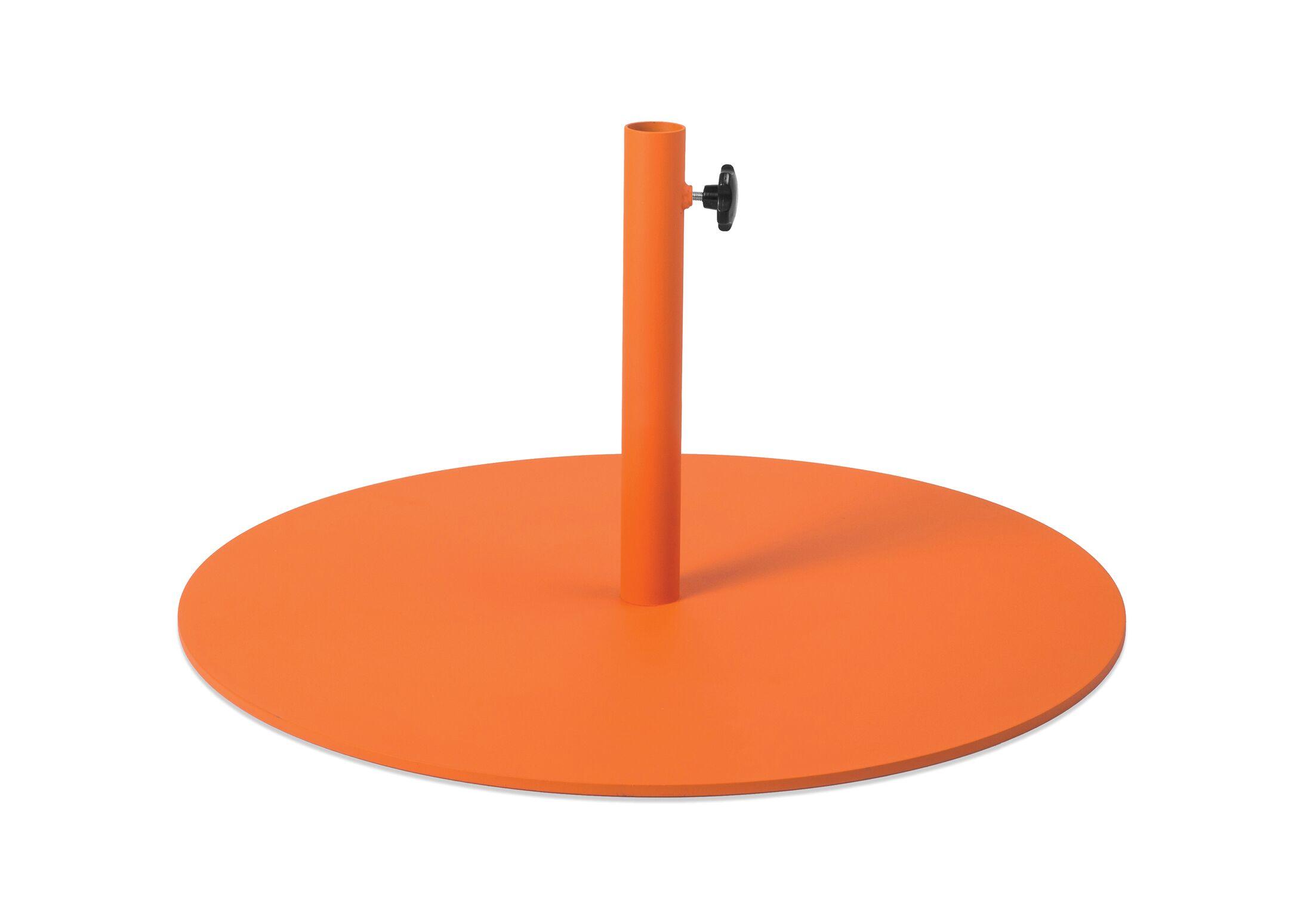 Parasol Steel Free Standing Umbrella Base Color: Orange