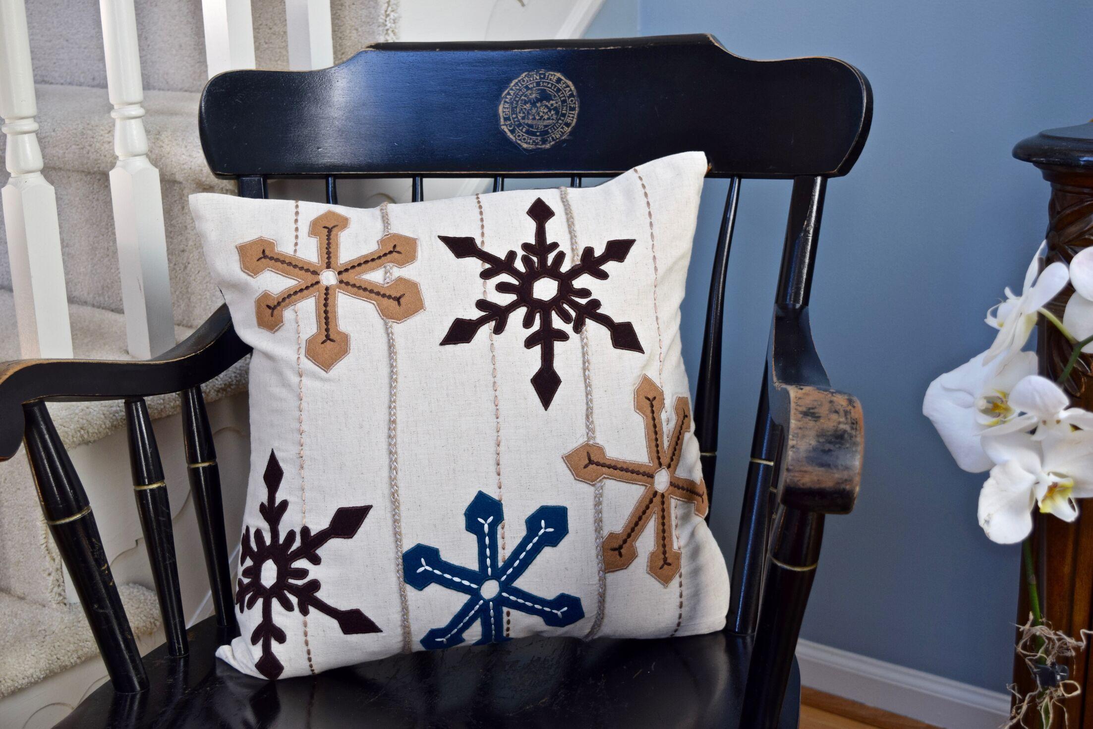Regina Snowflake Cotton Throw Pillow