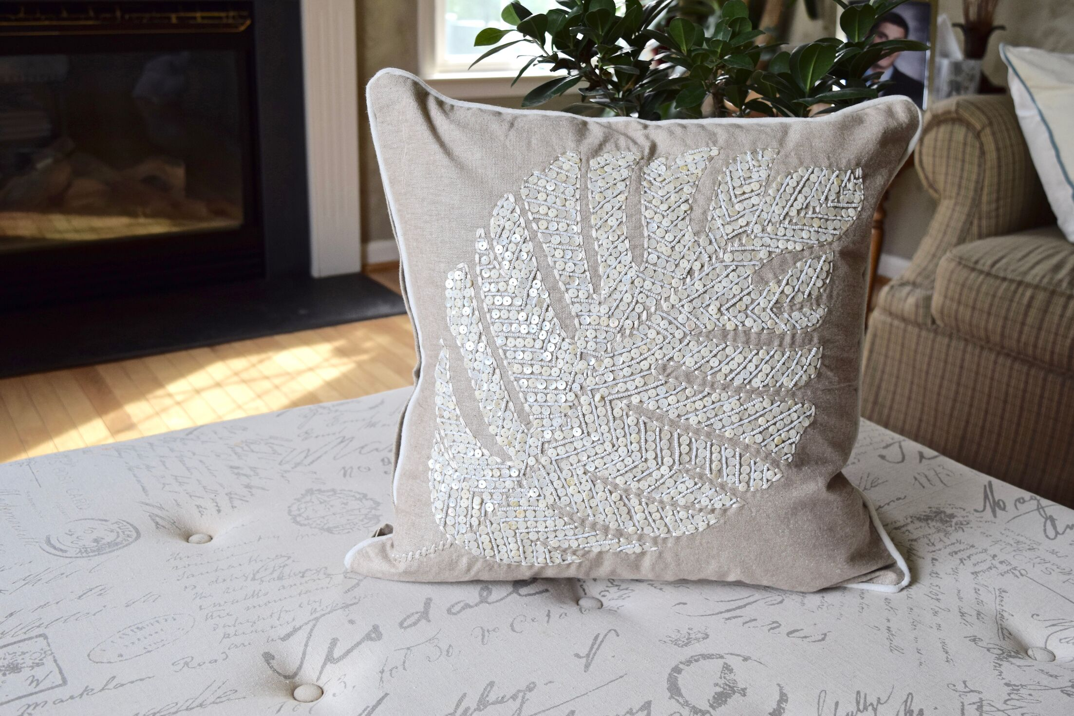 Henry Leaf Throw Pillow