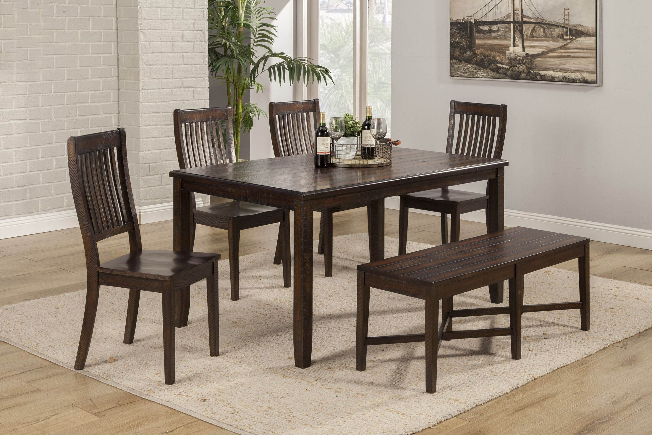 Alyshia 6 Piece Dining Set