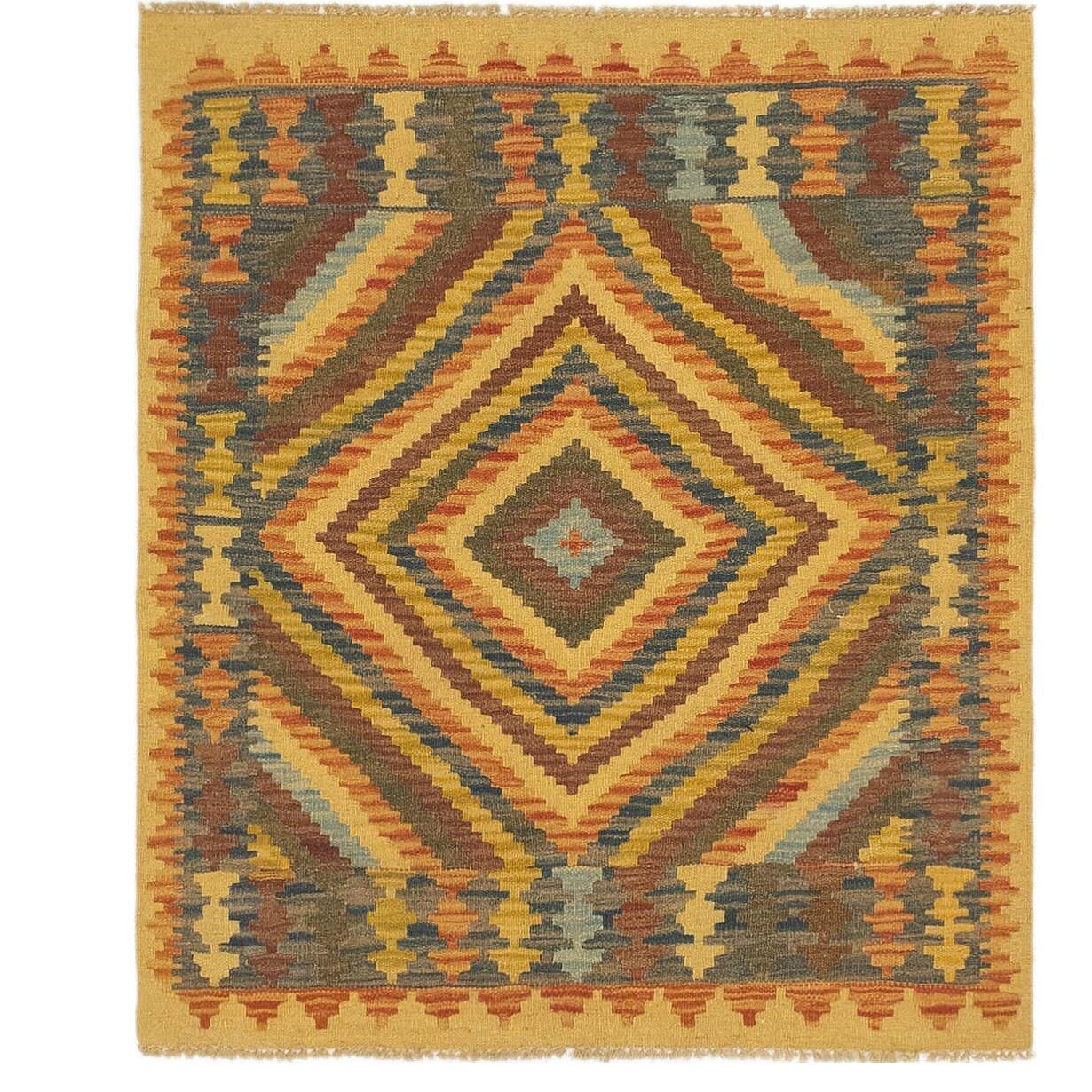 One-of-a-Kind Lorain Hand-Knotted 3' x 3'6