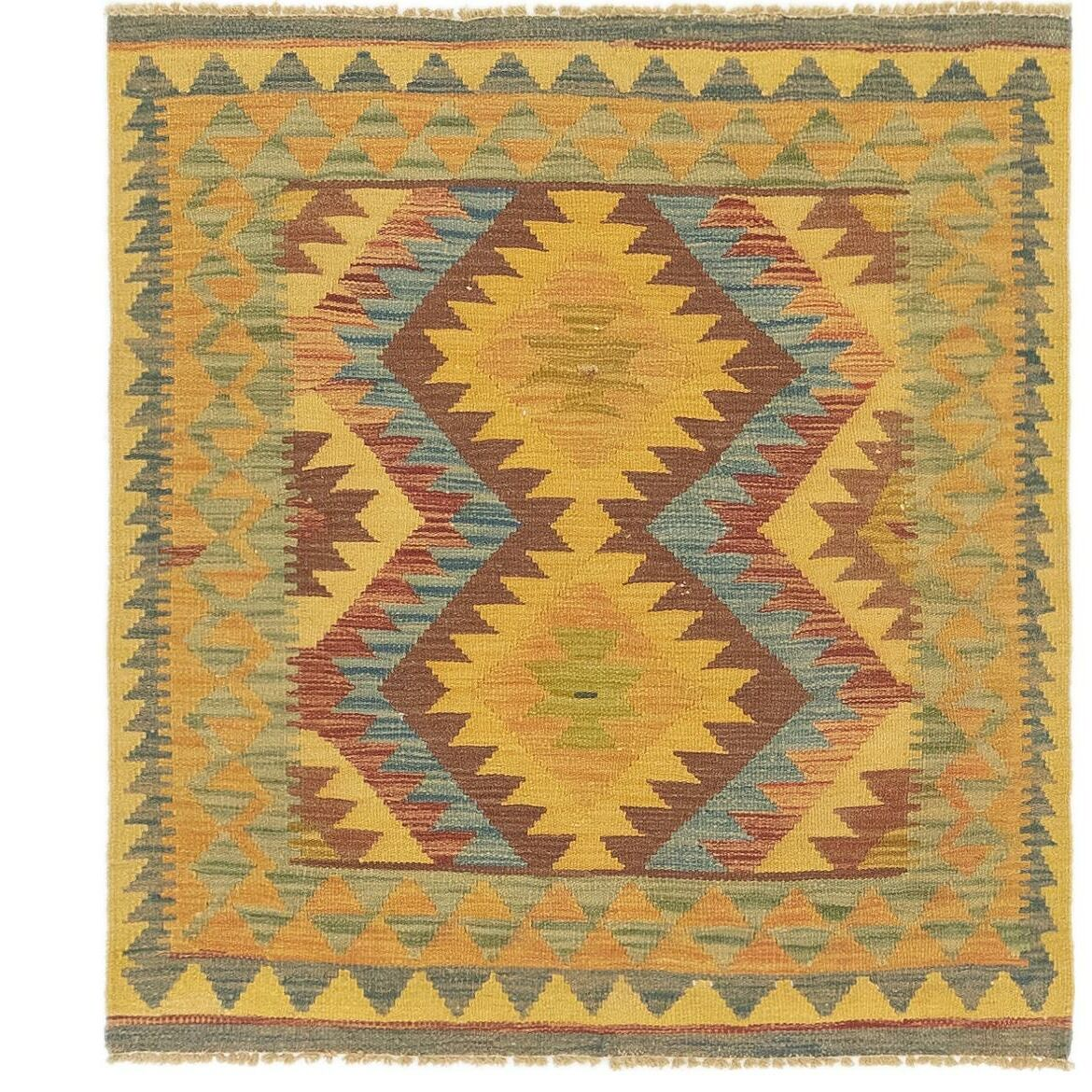 One-of-a-Kind Lorain Hand-Knotted 3' x 3'5