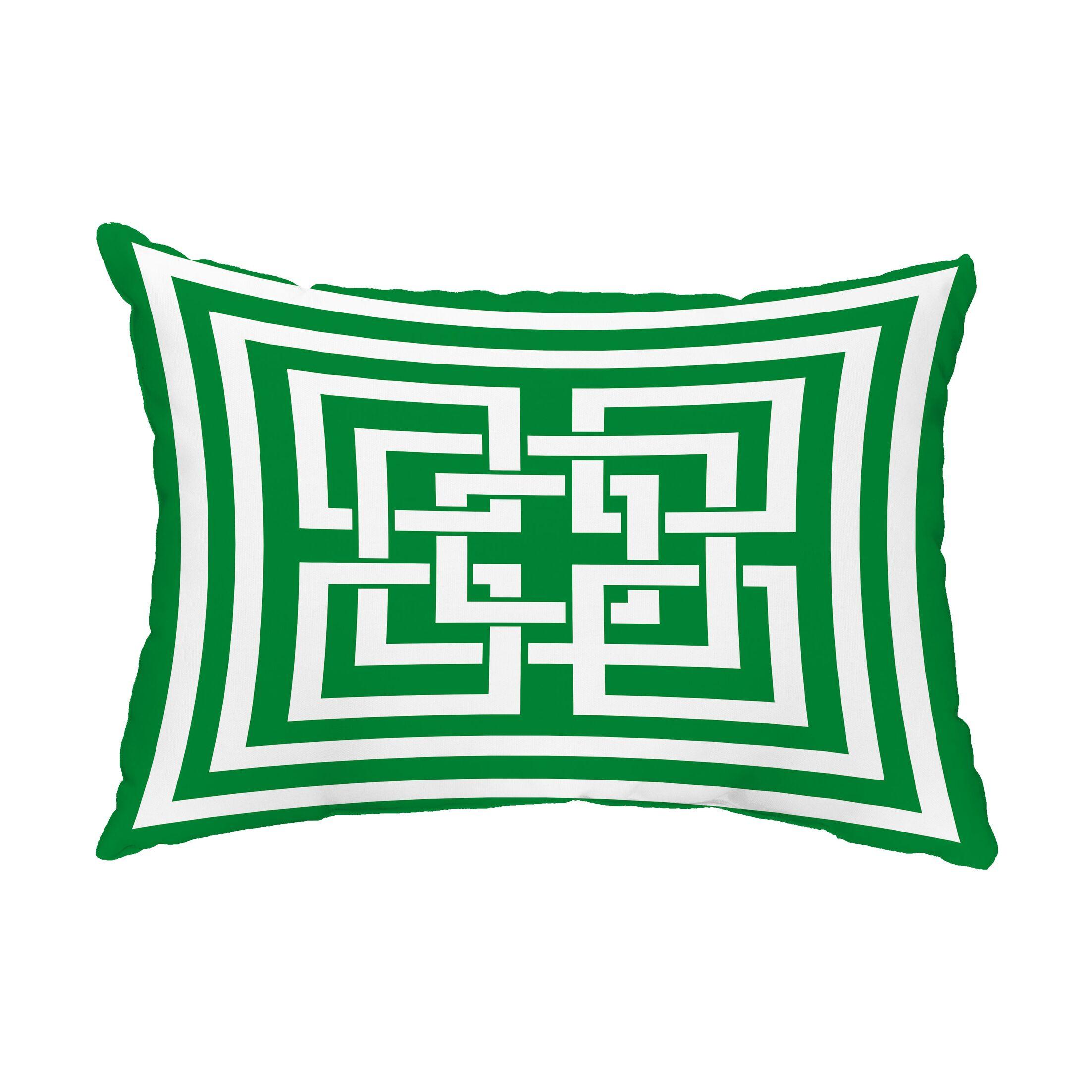 Greig Indoor/Outdoor Lumbar Pillow Color: Green