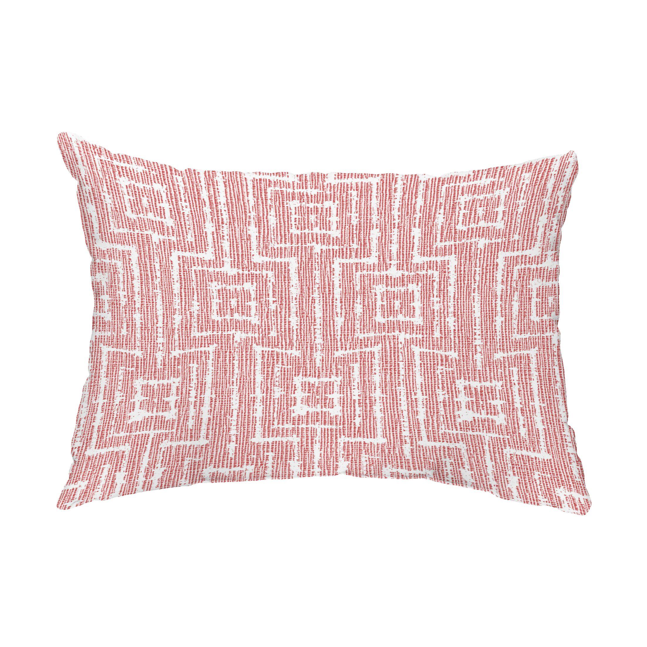 Douglass Woven Tiki Indoor/Outdoor Lumbar Pillow Color: Red