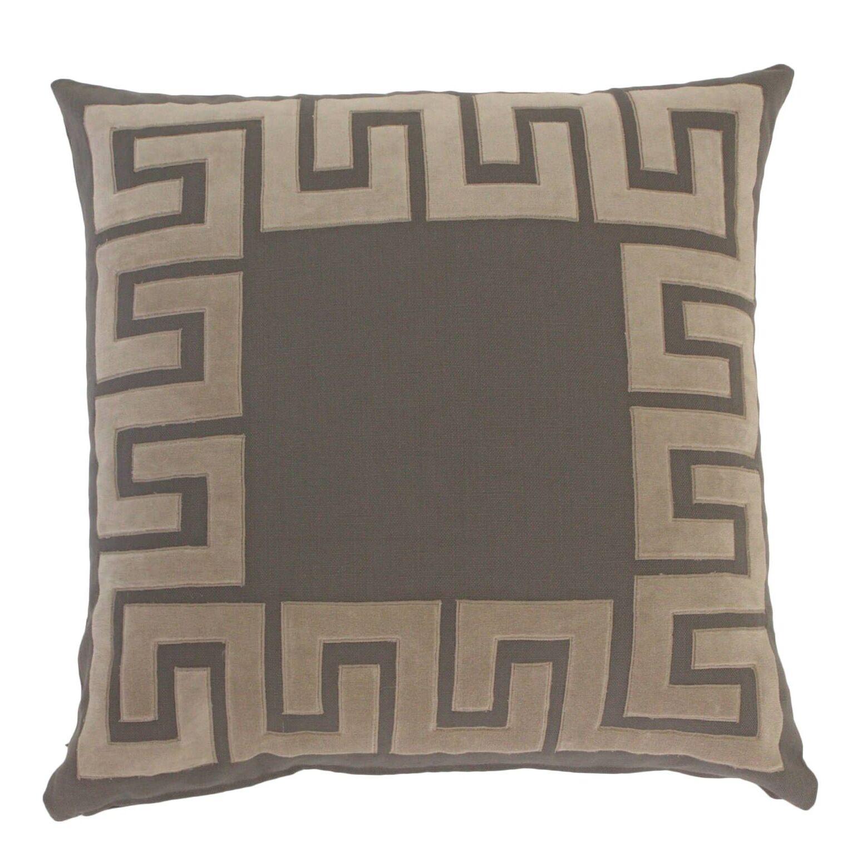 Koret Applique Cotton Throw Pillow Color: Stone