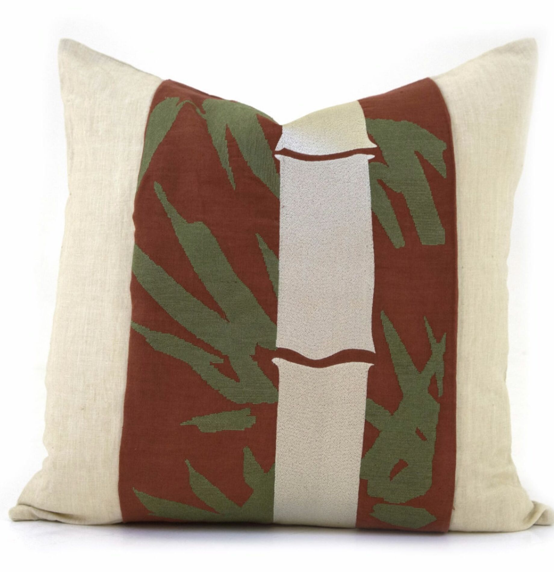 Cedarpoint Bamboo Throw Pillow Color: Natural Red