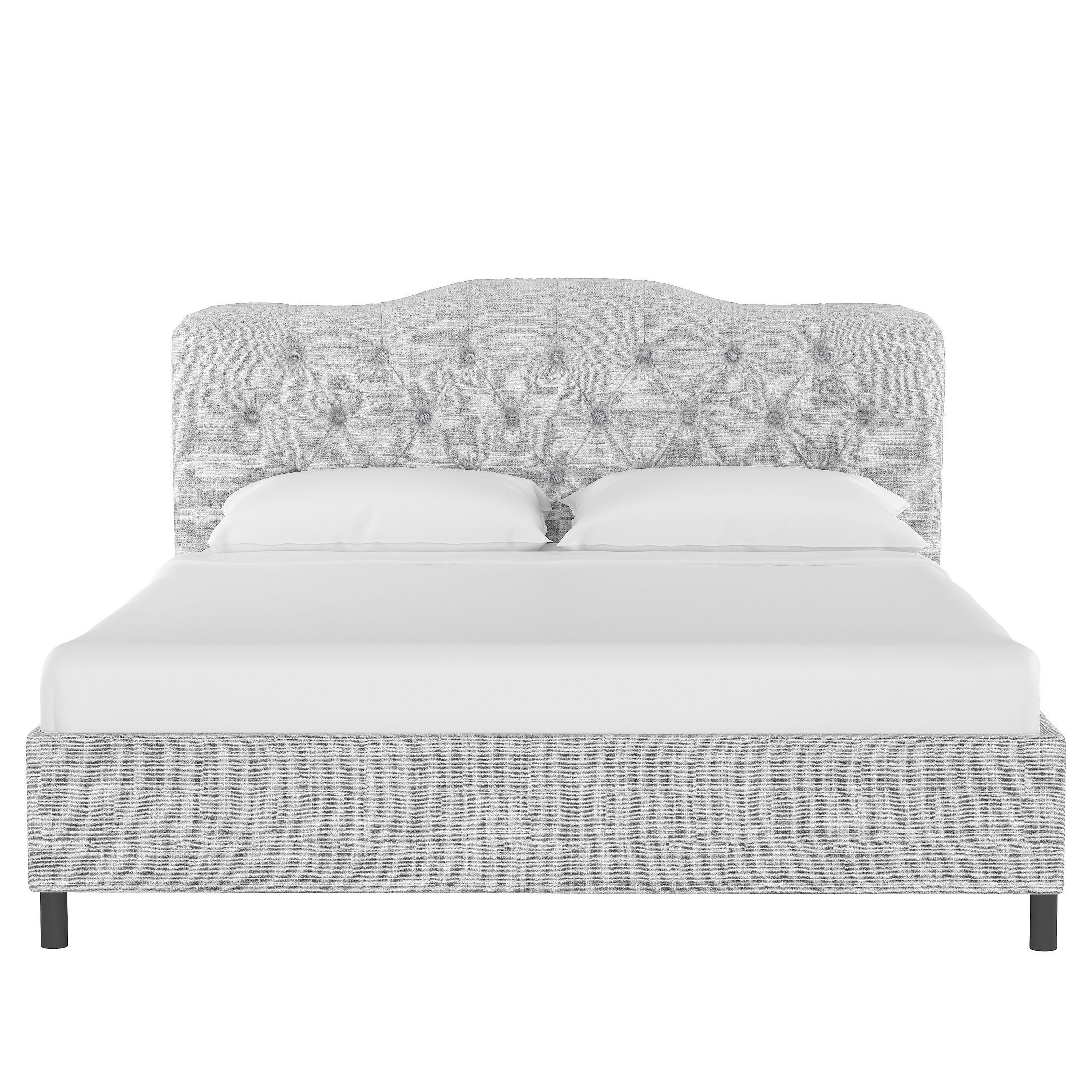 Longview Upholstered Platform Bed Size: Queen, Color: Pumice