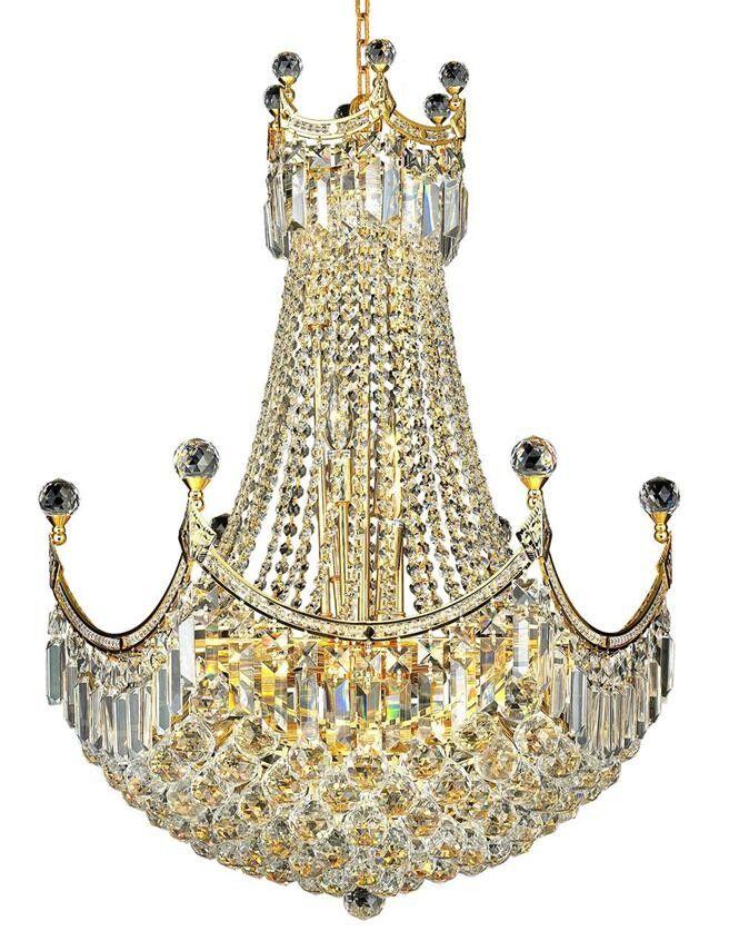 Kasha 18-Light Empire Chandelier Finish: Gold, Crystal: Elegant Cut