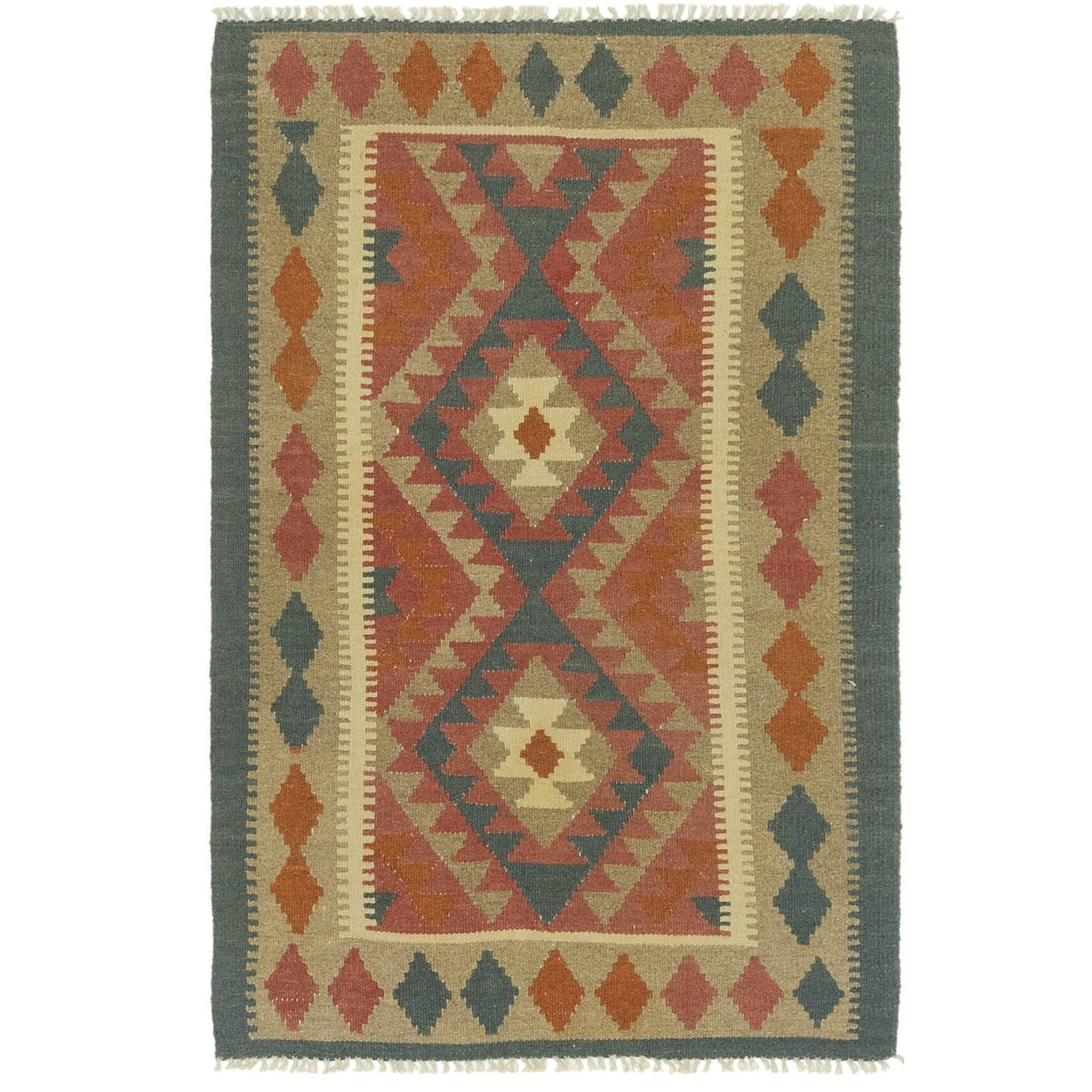 One-of-a-Kind Lorain Hand-Knotted 3'2