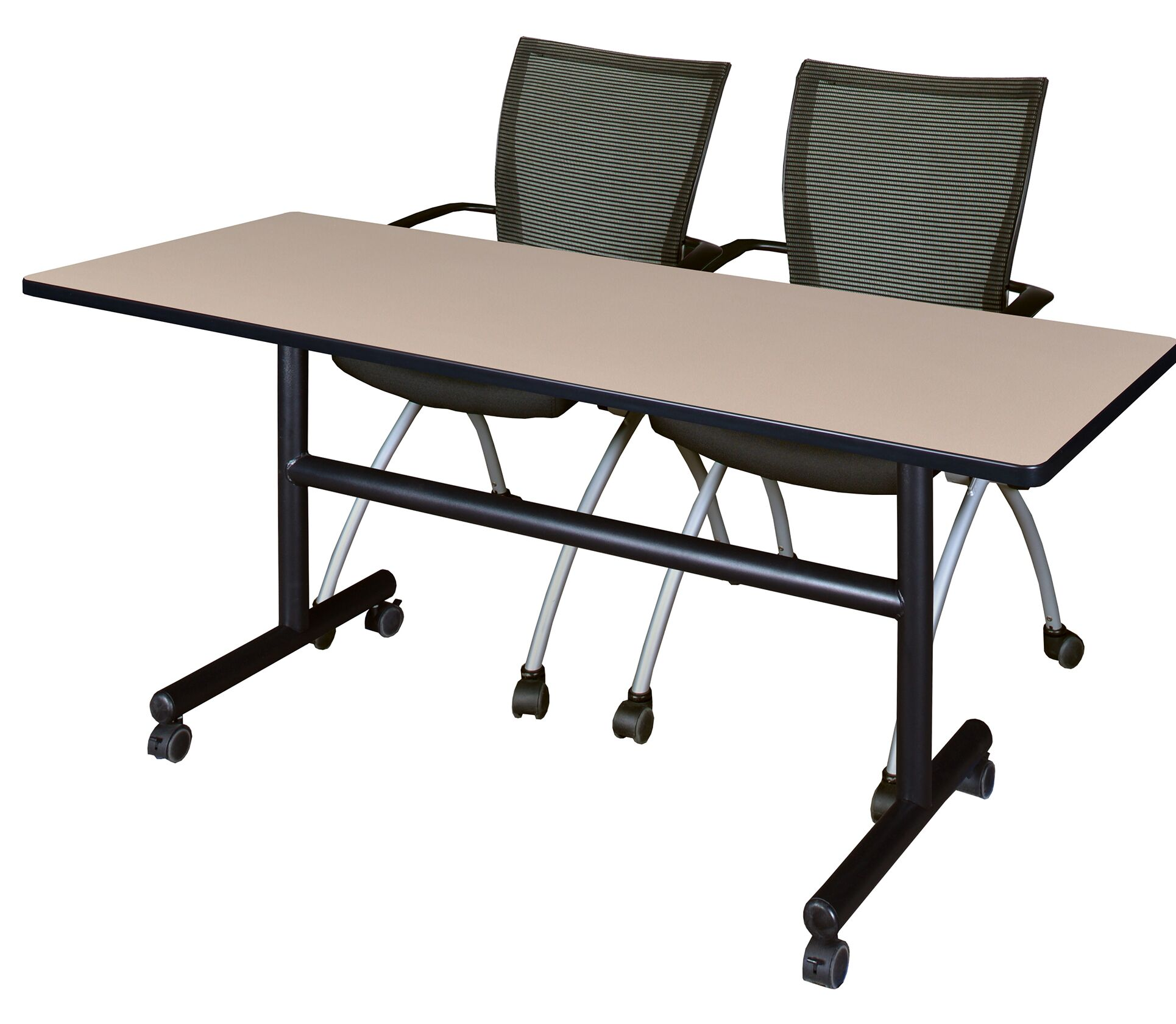 Vaughan Flip Top Mobile Training Table with Wheels Size: 29