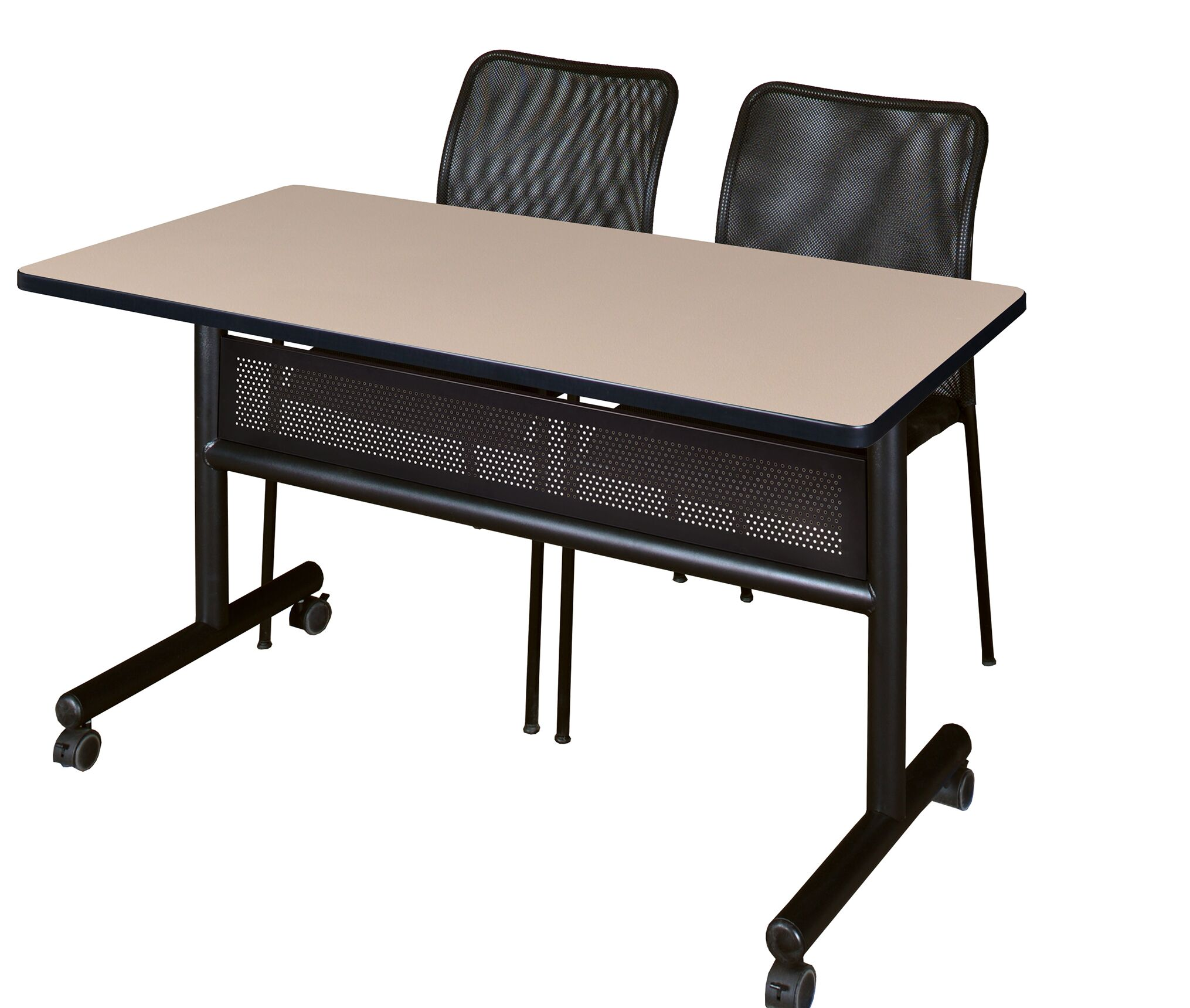 Velazquez Flip Top Mobile Training Table with Modesty Panel Size: 29