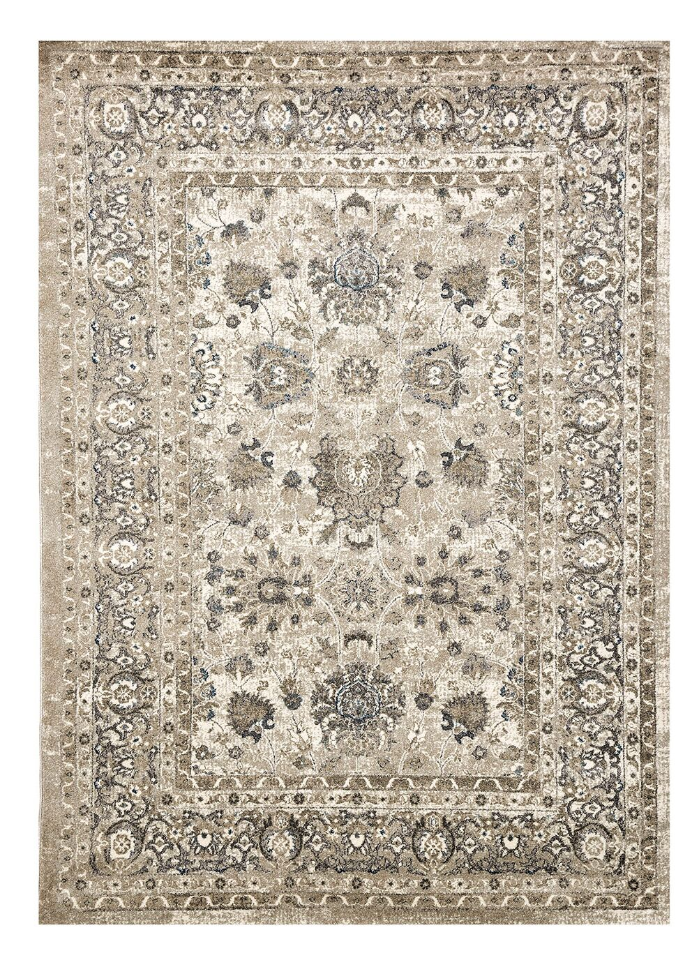 Redruth Ivory/Charcoal Indoor/Outdoor Area Rug Rug Size: Rectangle 5' x 8'