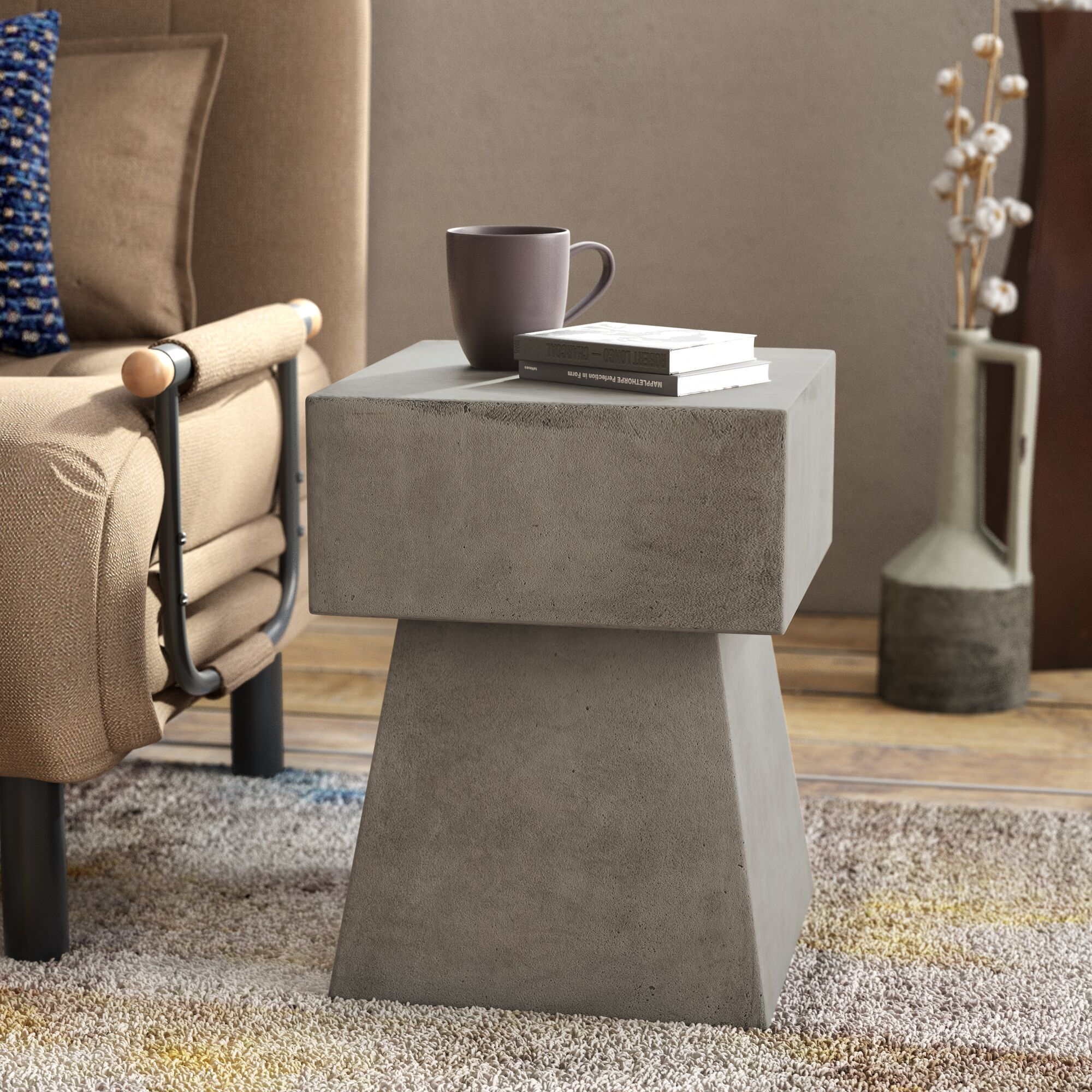 Cezanne End Table Color: Dark Gray
