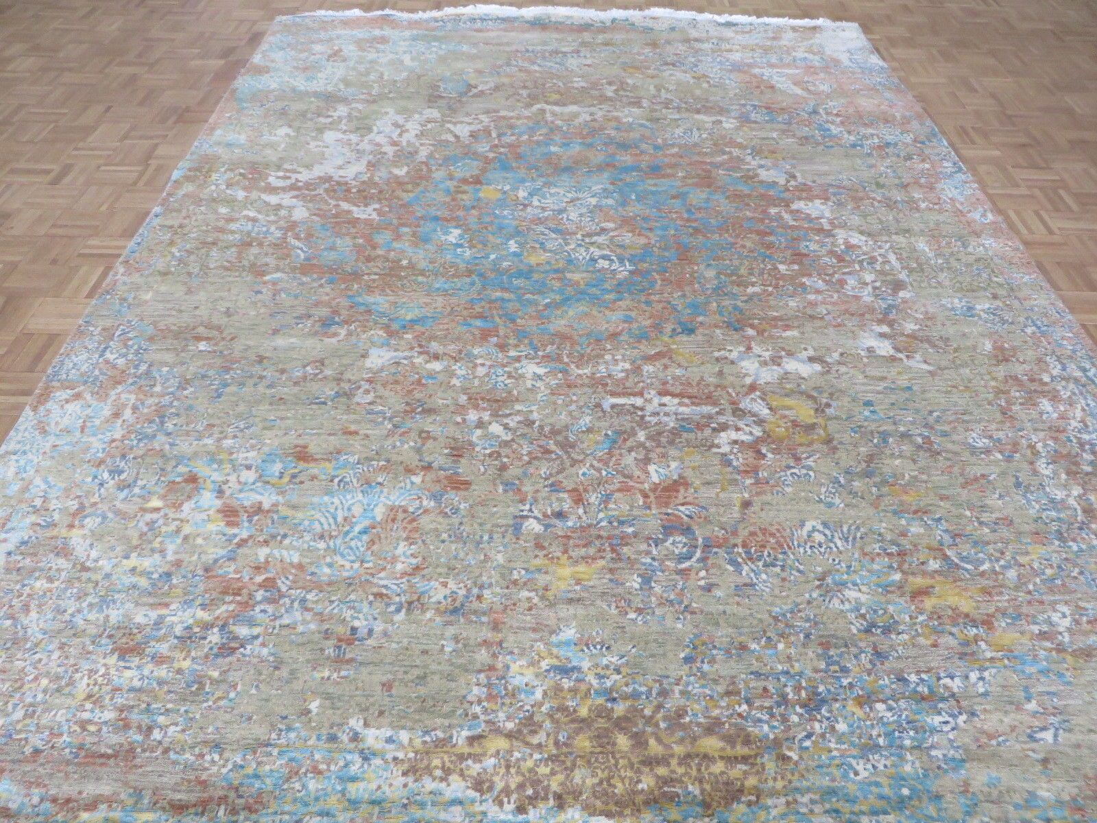 One-of-a-Kind Azariah Fine Modern Hand-Knotted 8'11