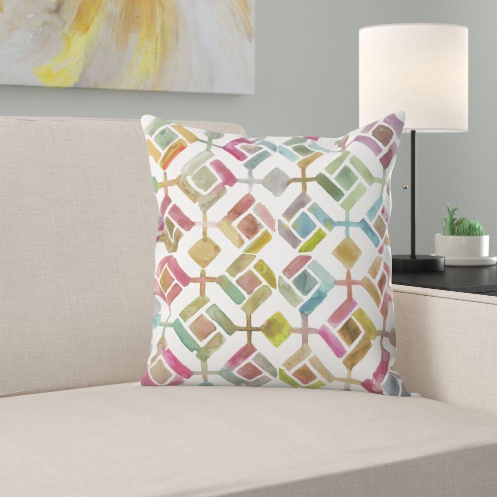 Tessellation Iii Throw Pillow Size: 16