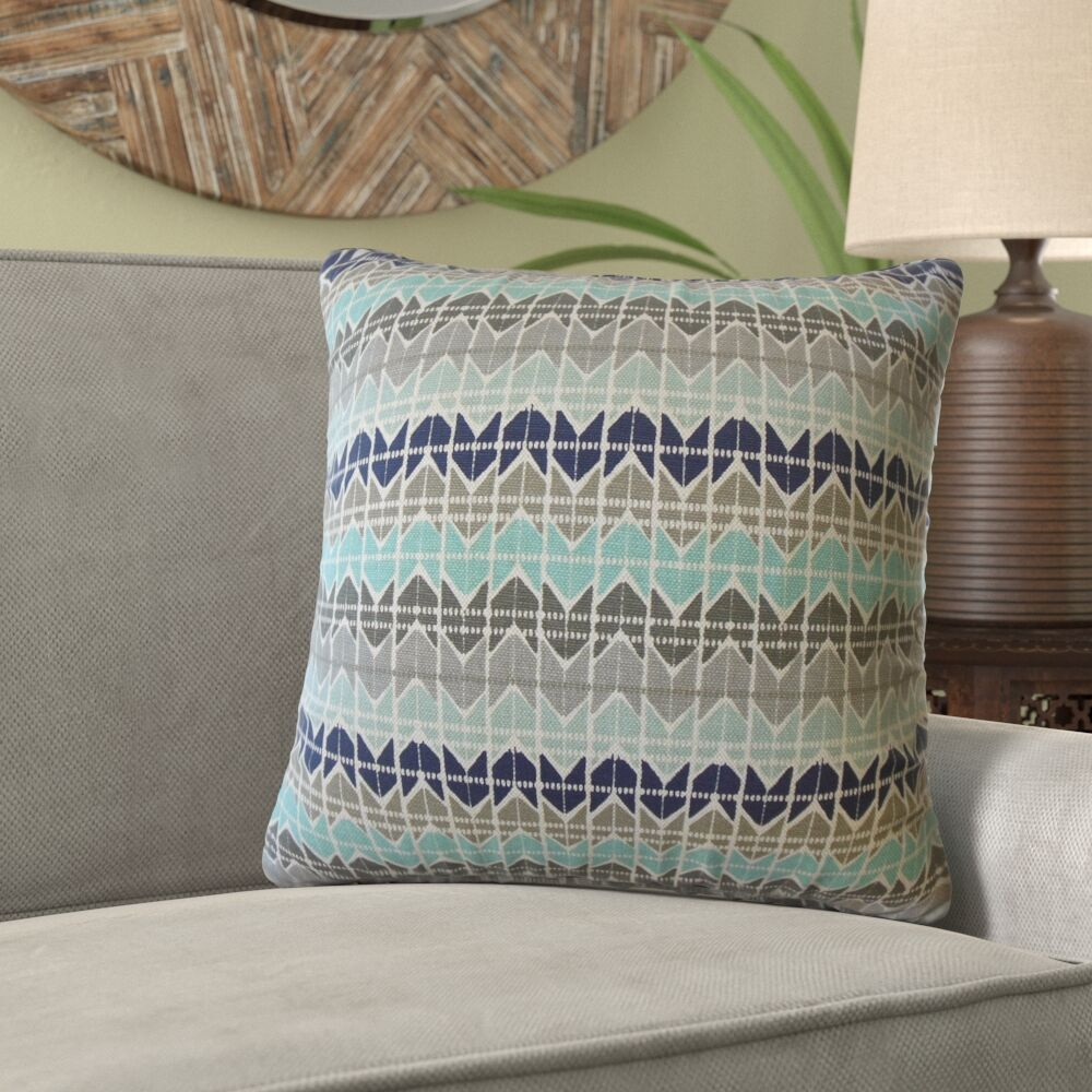 Kraft Geometric Cotton Pillow Size: 24