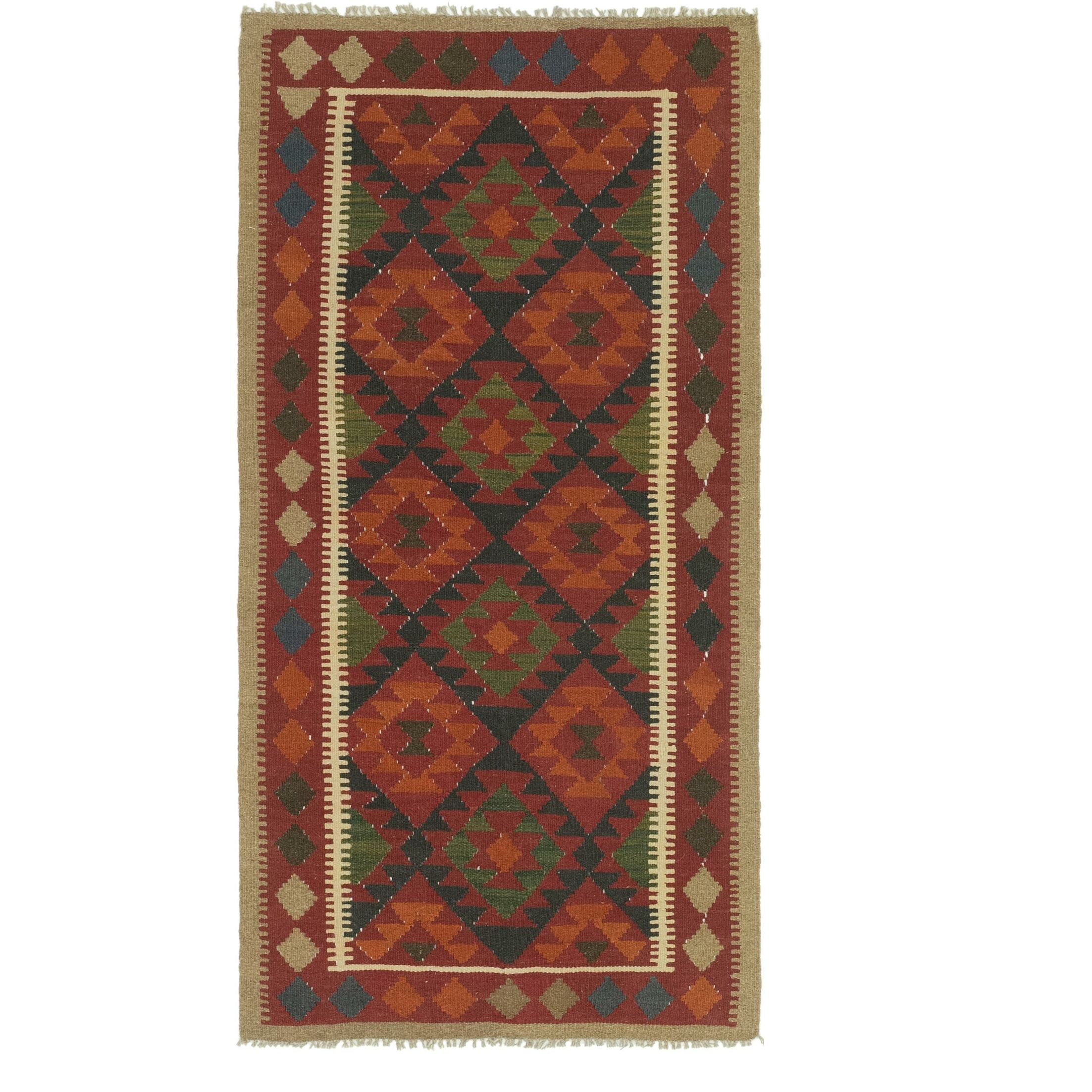 One-of-a-Kind Lorain Hand-Knotted Runner 3'4